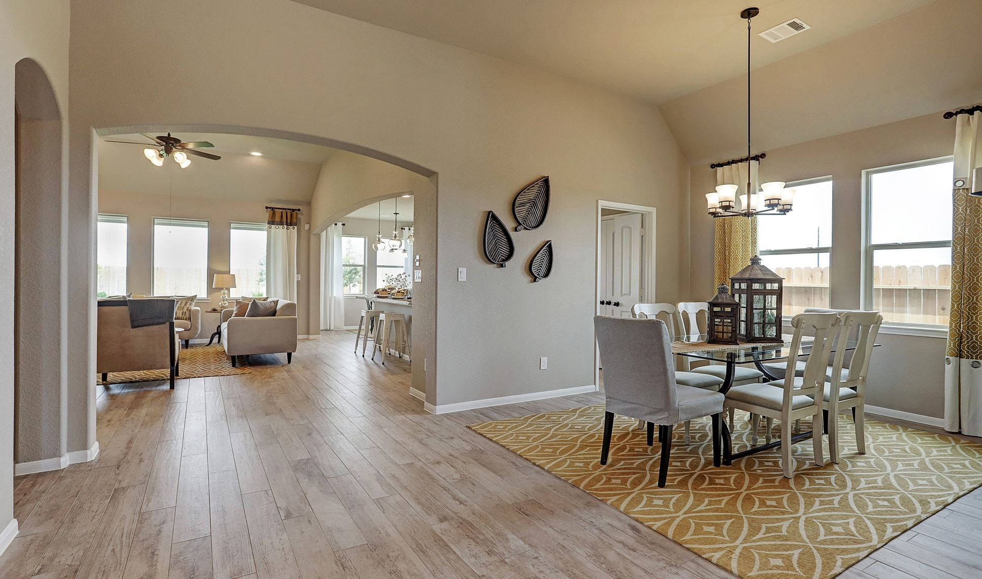 Interior:Dining room with access to kitchen
