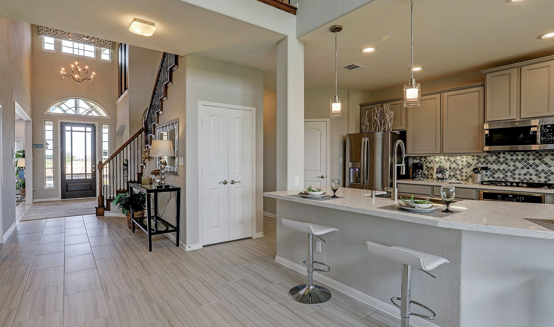 Interior:Entry into kitchen