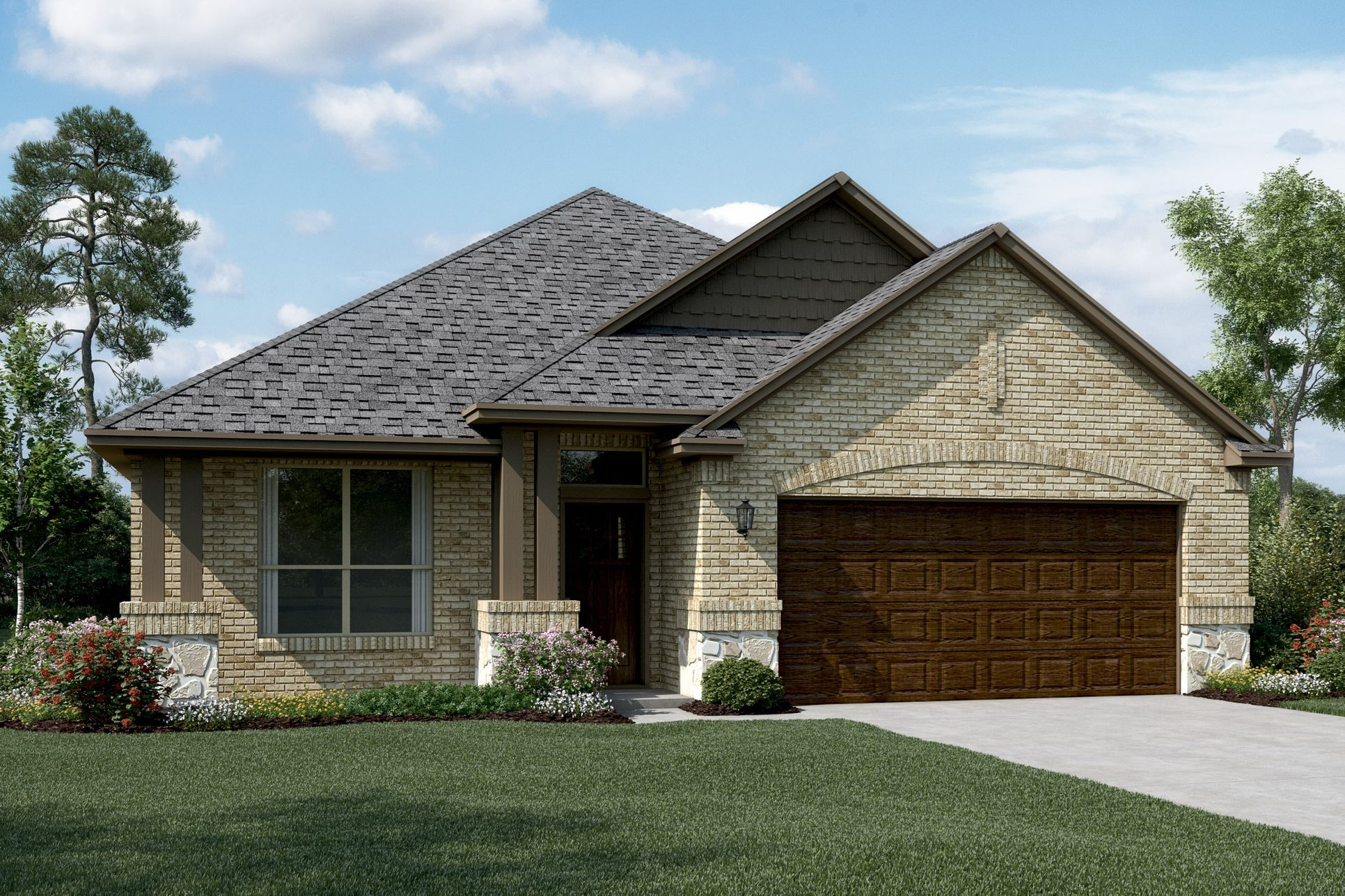 Exterior:Birkdale II - C - Optional stone