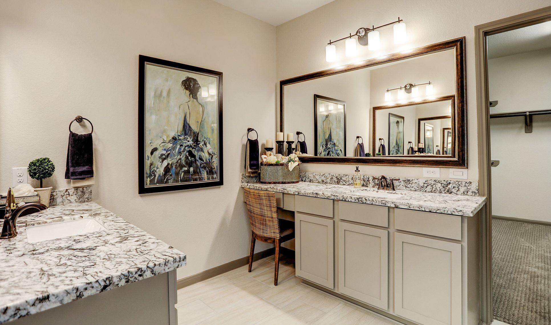 Interior:Dual vanity sinks in owner's bath
