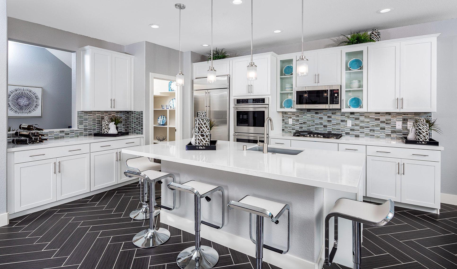 Interior:Refined kitchen with island