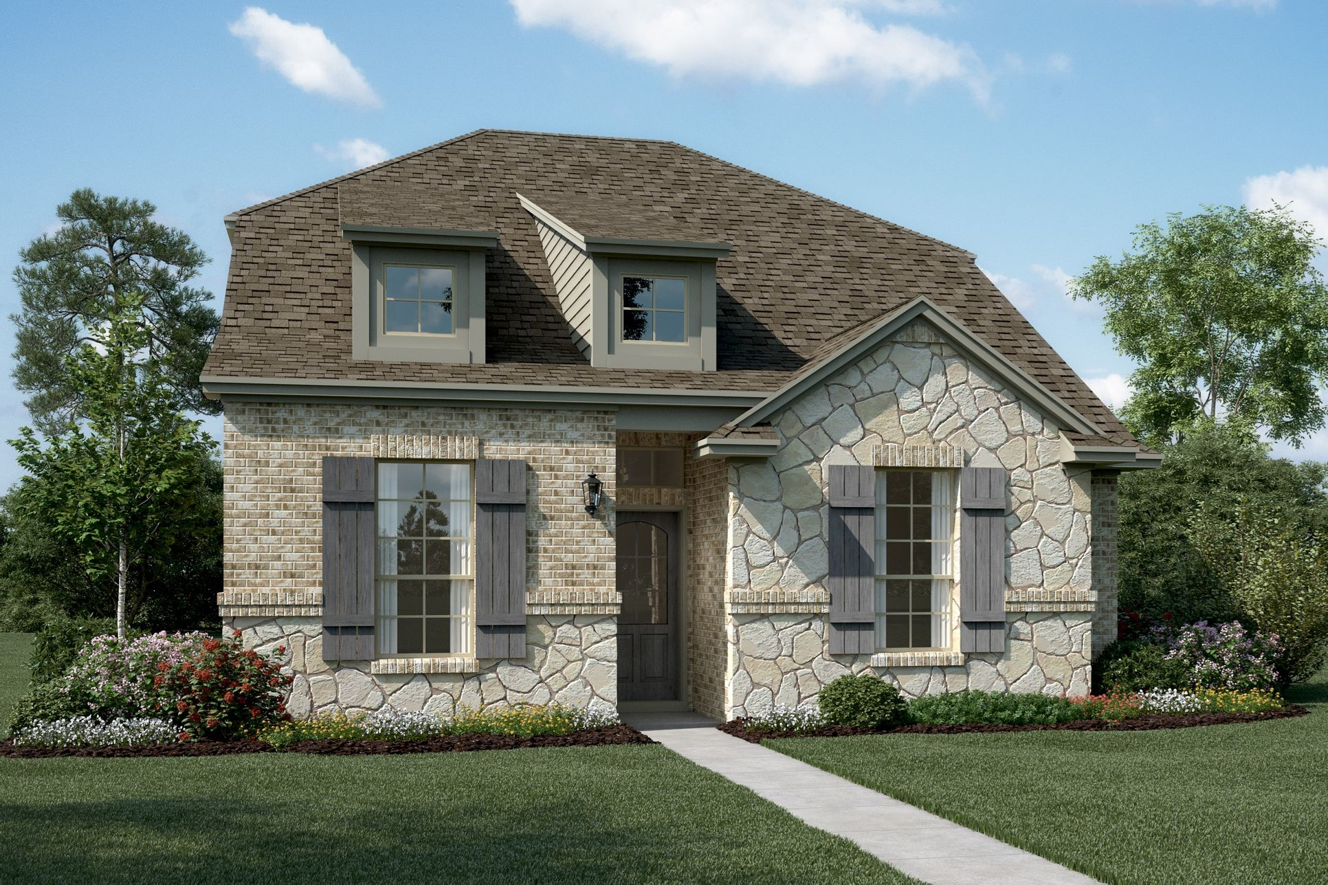 Exterior:Winslow - T - Optional stone