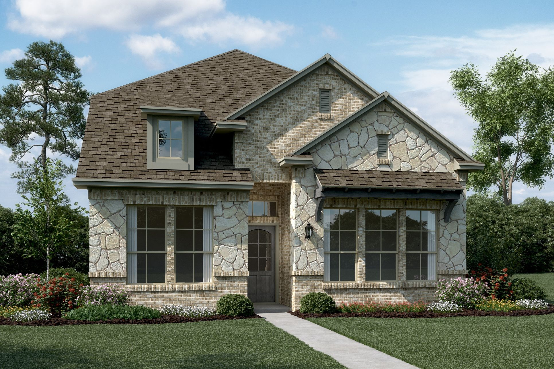 Exterior:Hathaway - T - Optional stone