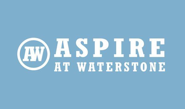 Aspire Logo white on blue - ASPOT