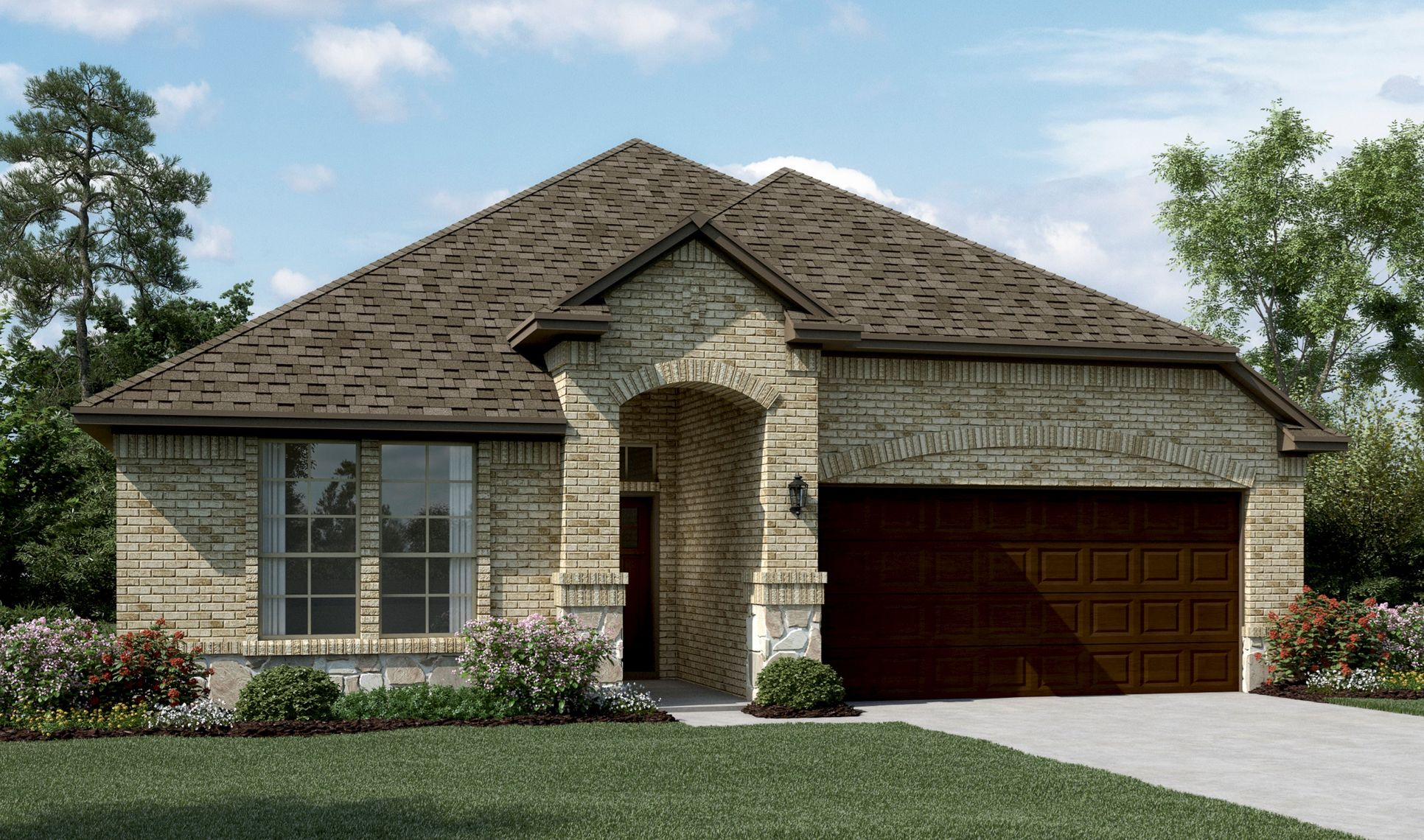Exterior:Rockford II - C - Optional stone
