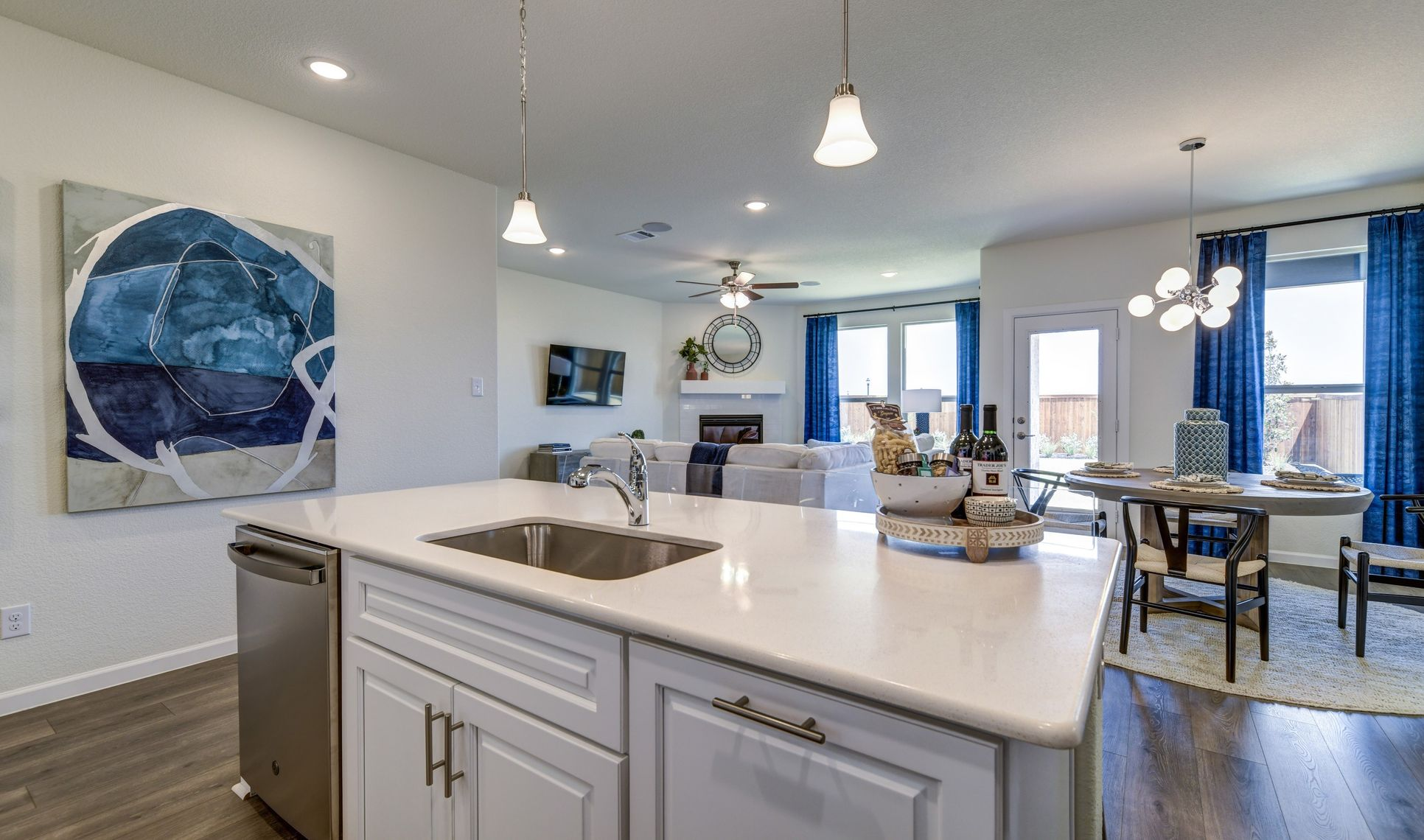 Interior:Welcoming kitchen and dining area