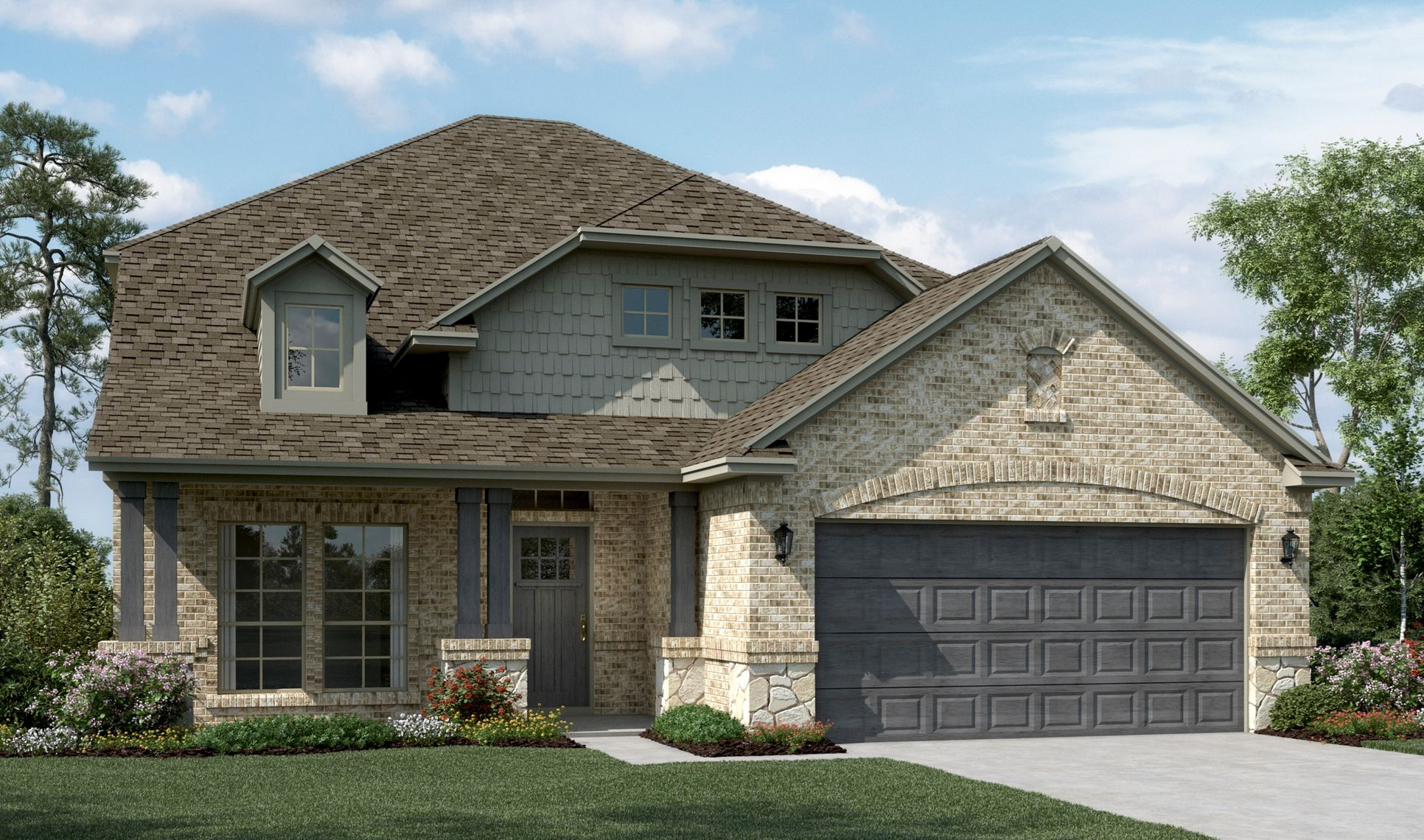 Exterior:Delaware II - C - Optional stone
