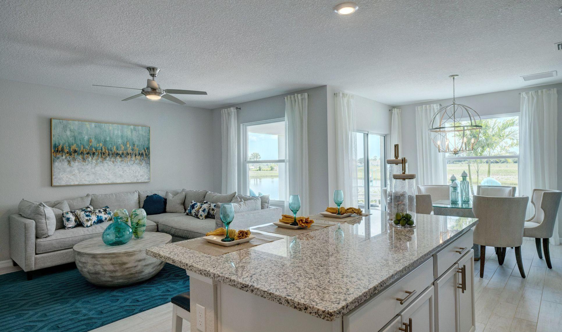 Interior:Kitchen overlooking great room