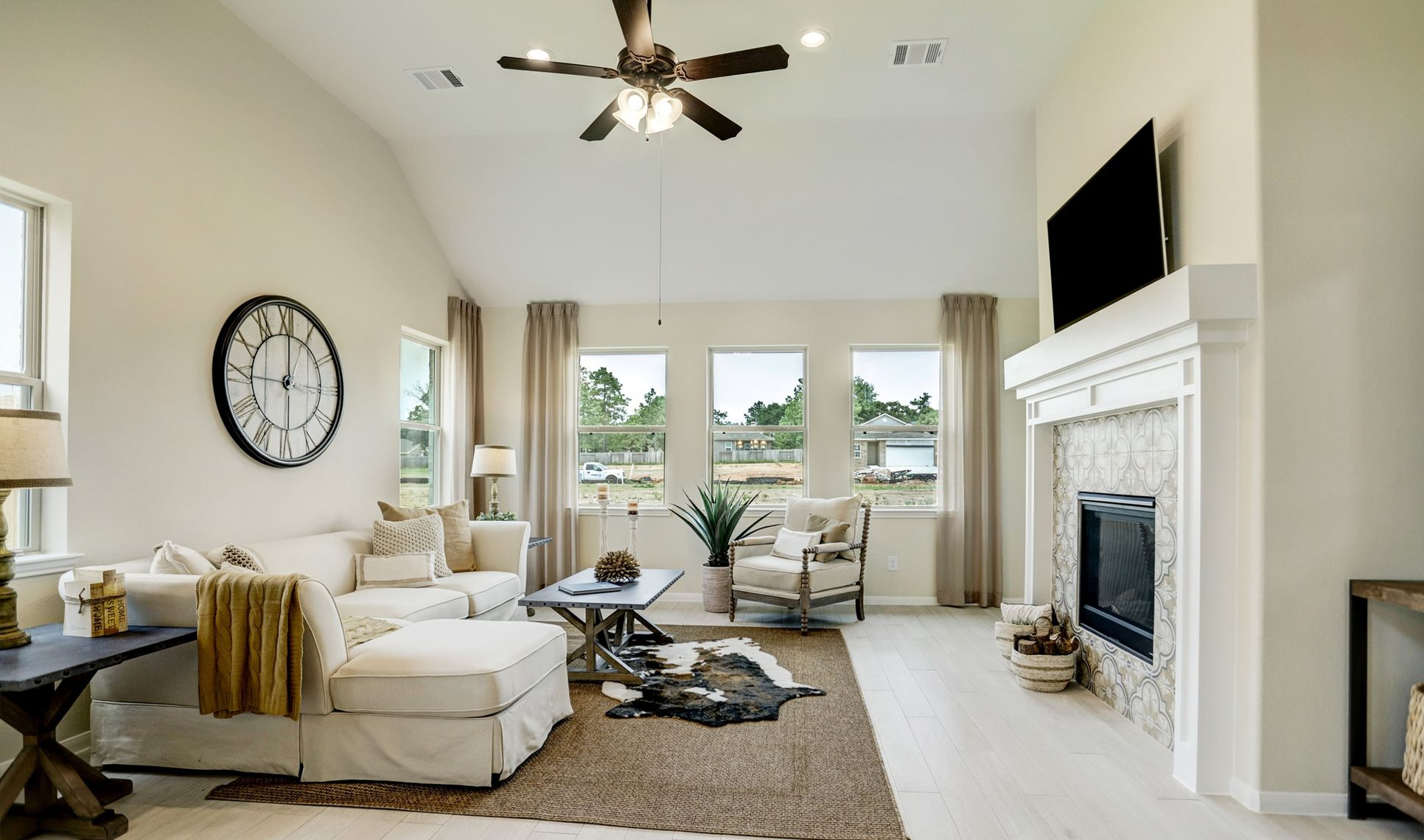 Interior:High ceilings at great room