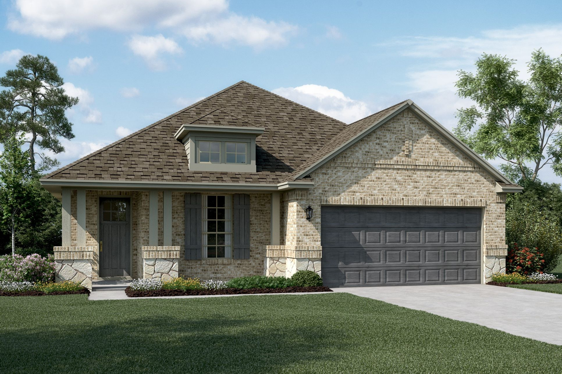 Exterior:Dover II - C - Optional stone