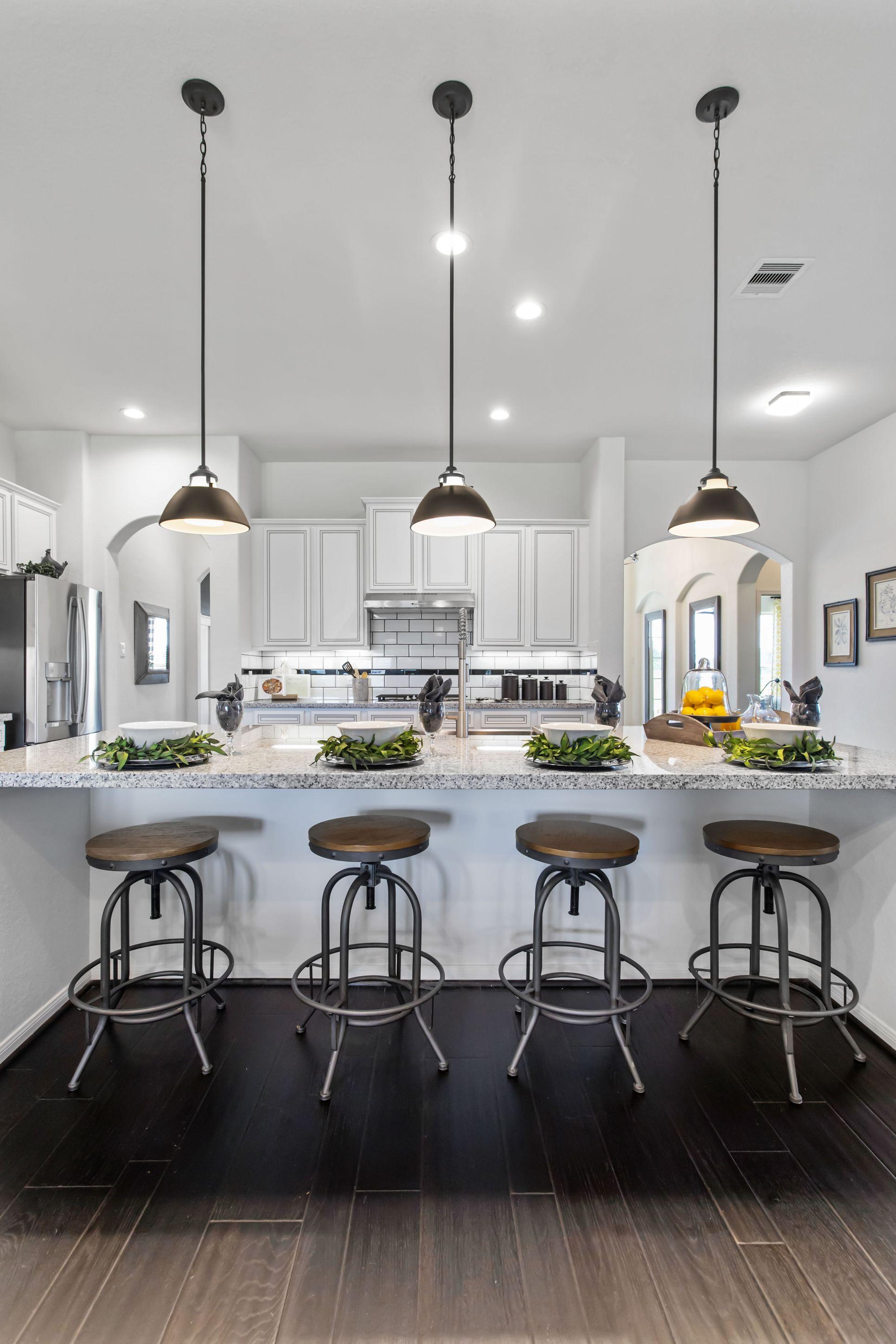 Interior:Breakfast bar in kitchen
