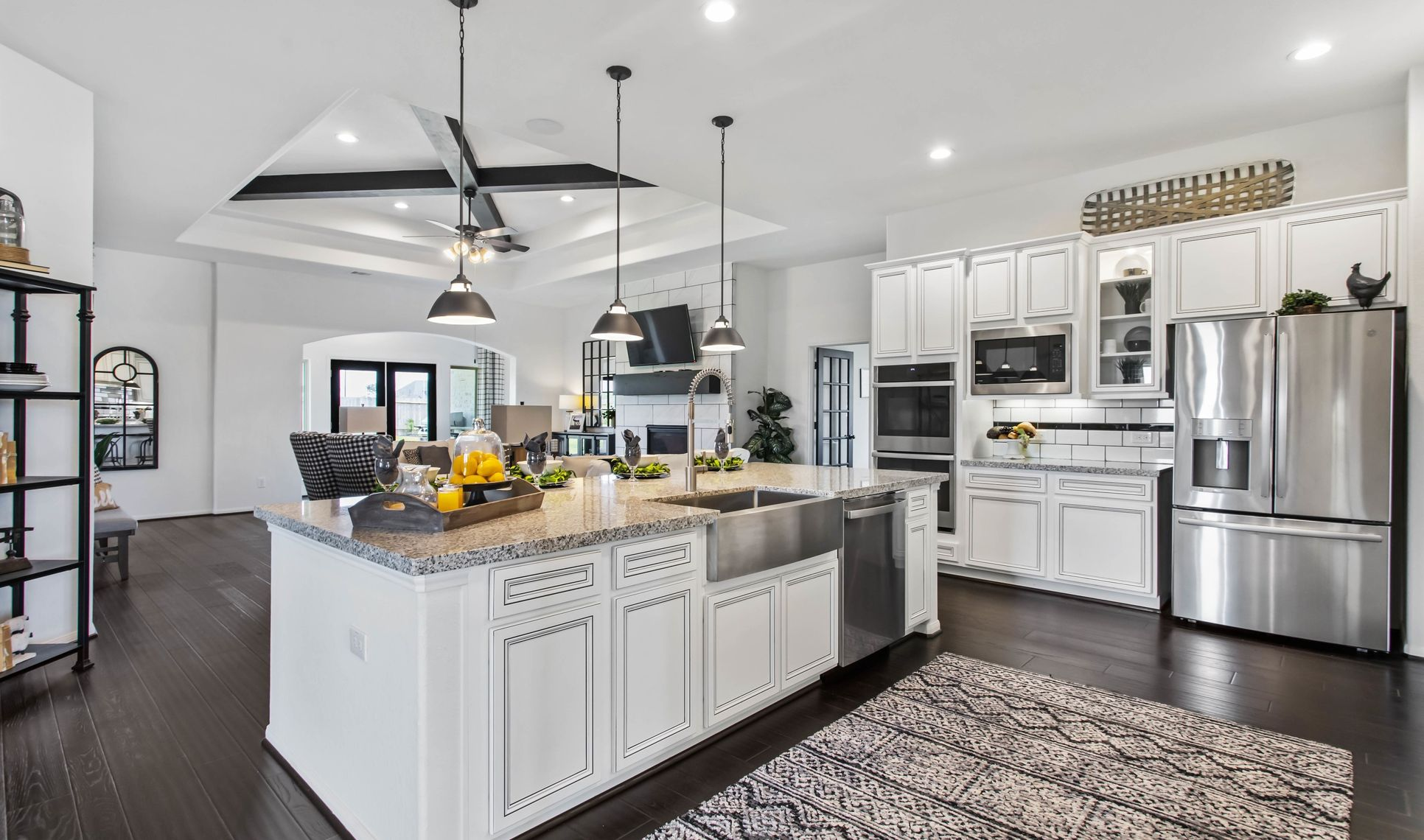 Interior:Kitchen open to great room