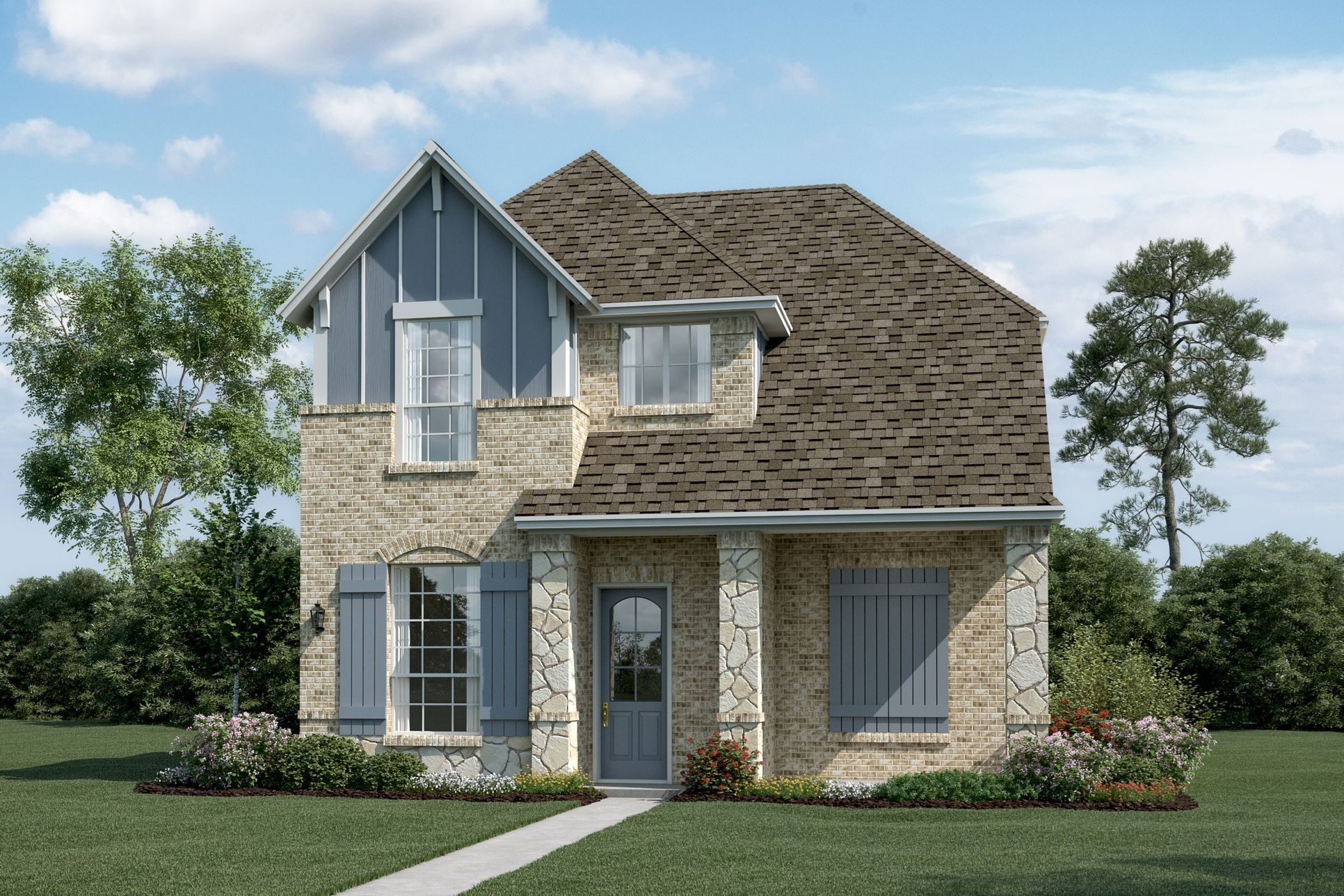 Exterior:Summerlin - T - Shown with optional stone