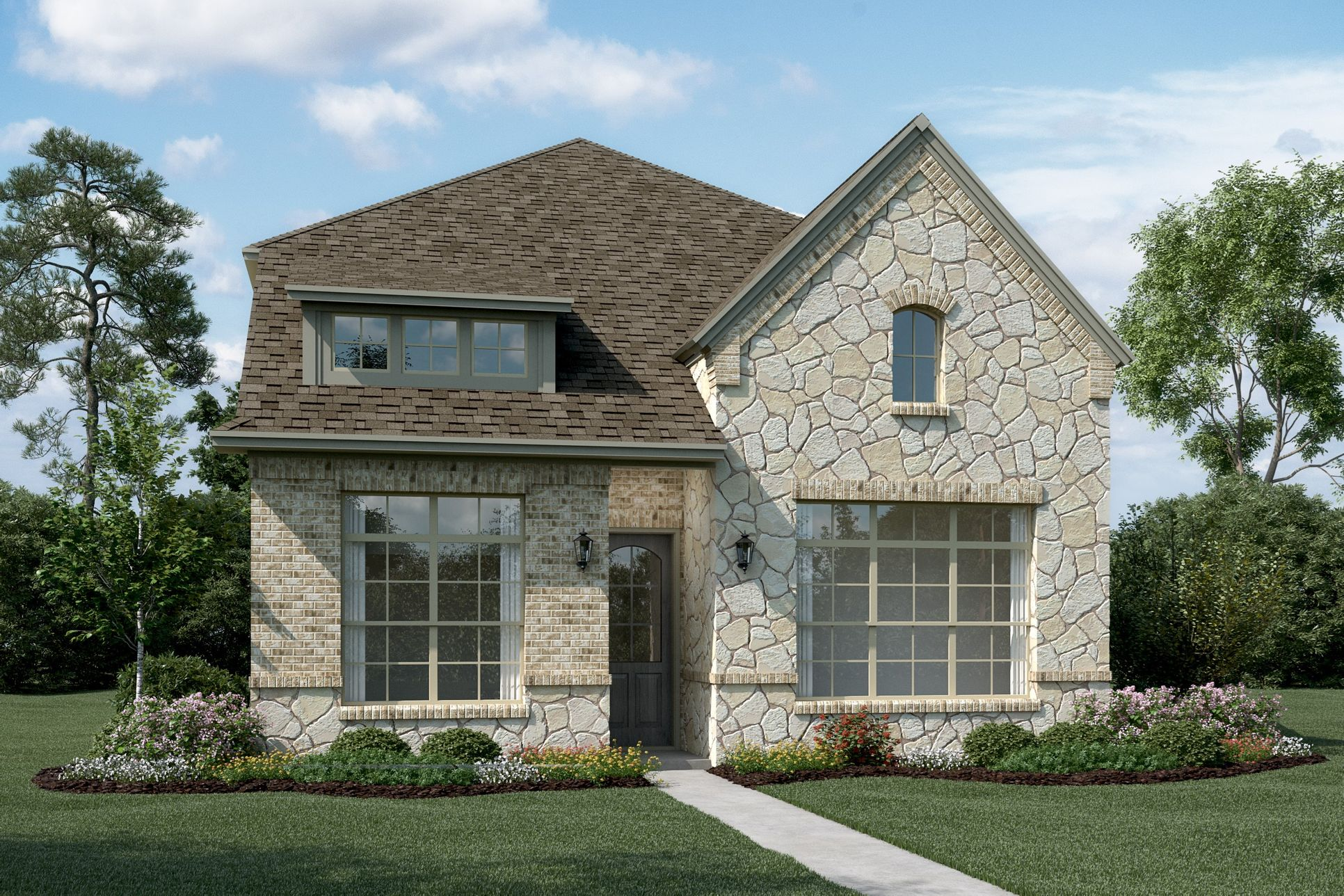 Exterior:Sycamore - T - Shown with optional stone