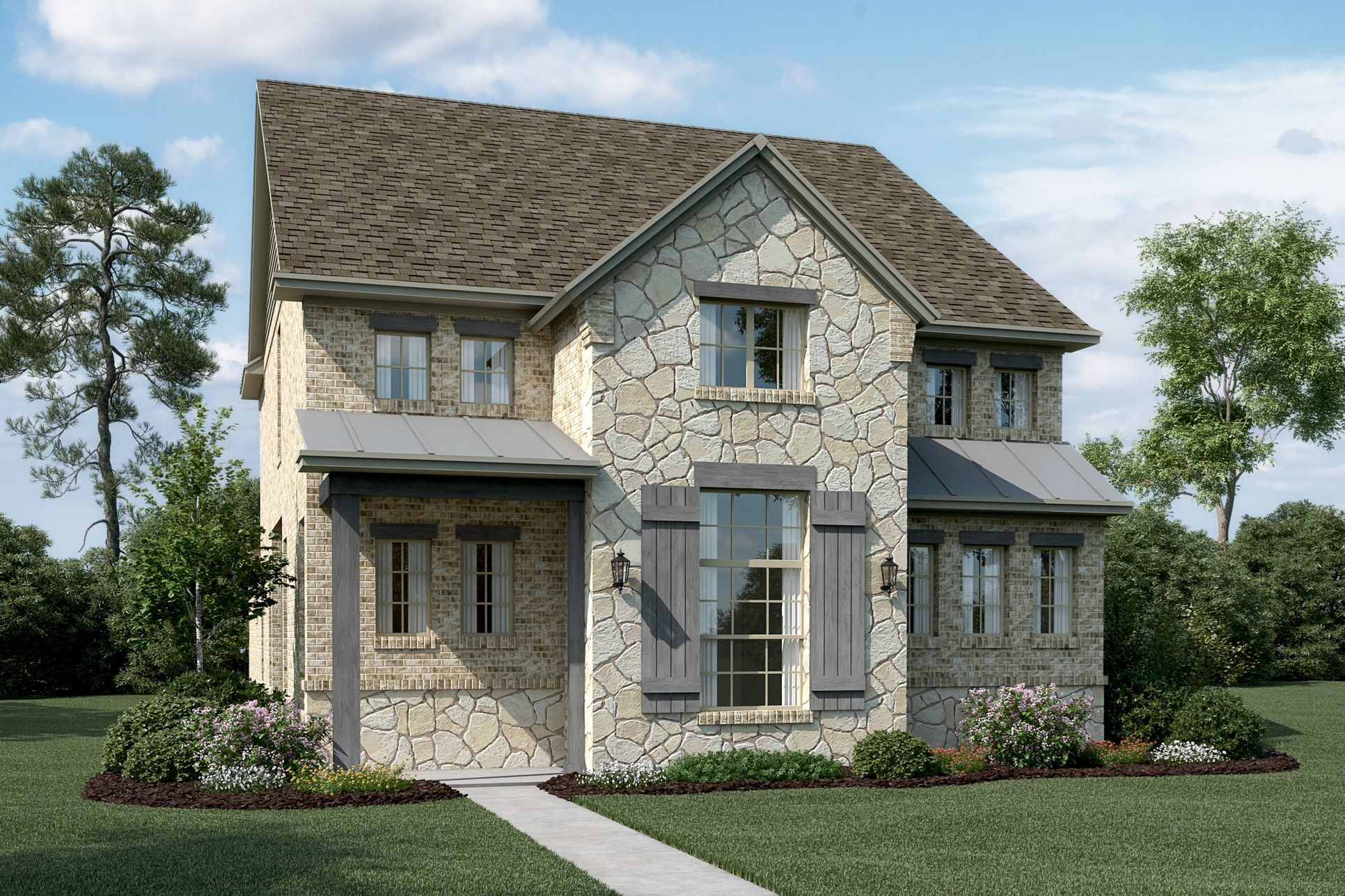Exterior:Southgate - T - With optional stone & metal roof