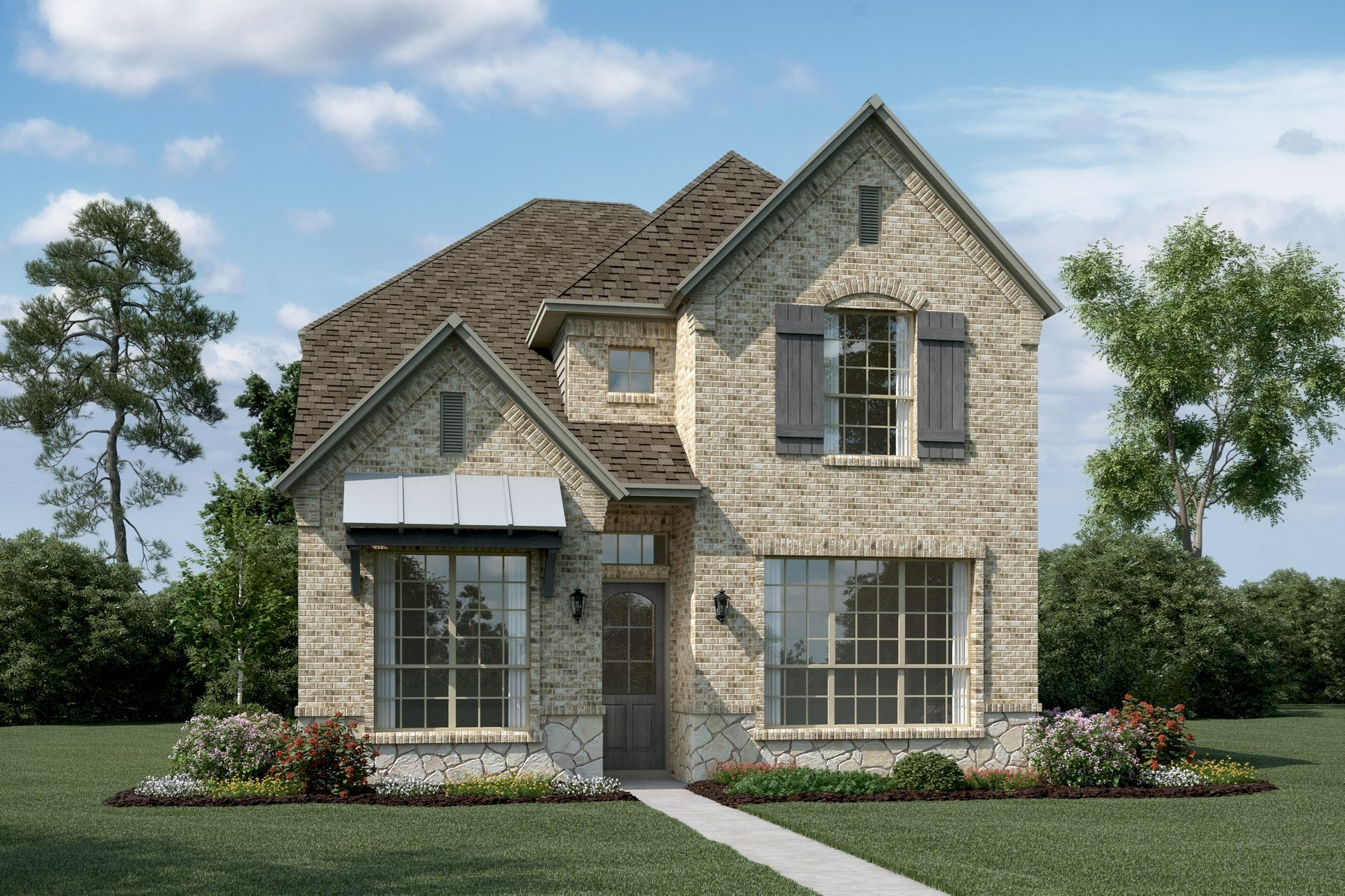 Exterior:Sutherland - T - With optional stone & metal roof