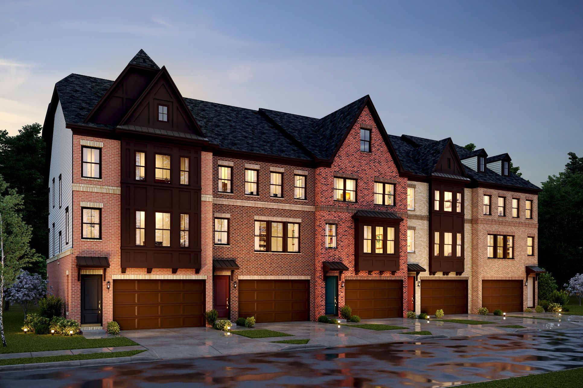 Exterior:Luxurious Townhomes
