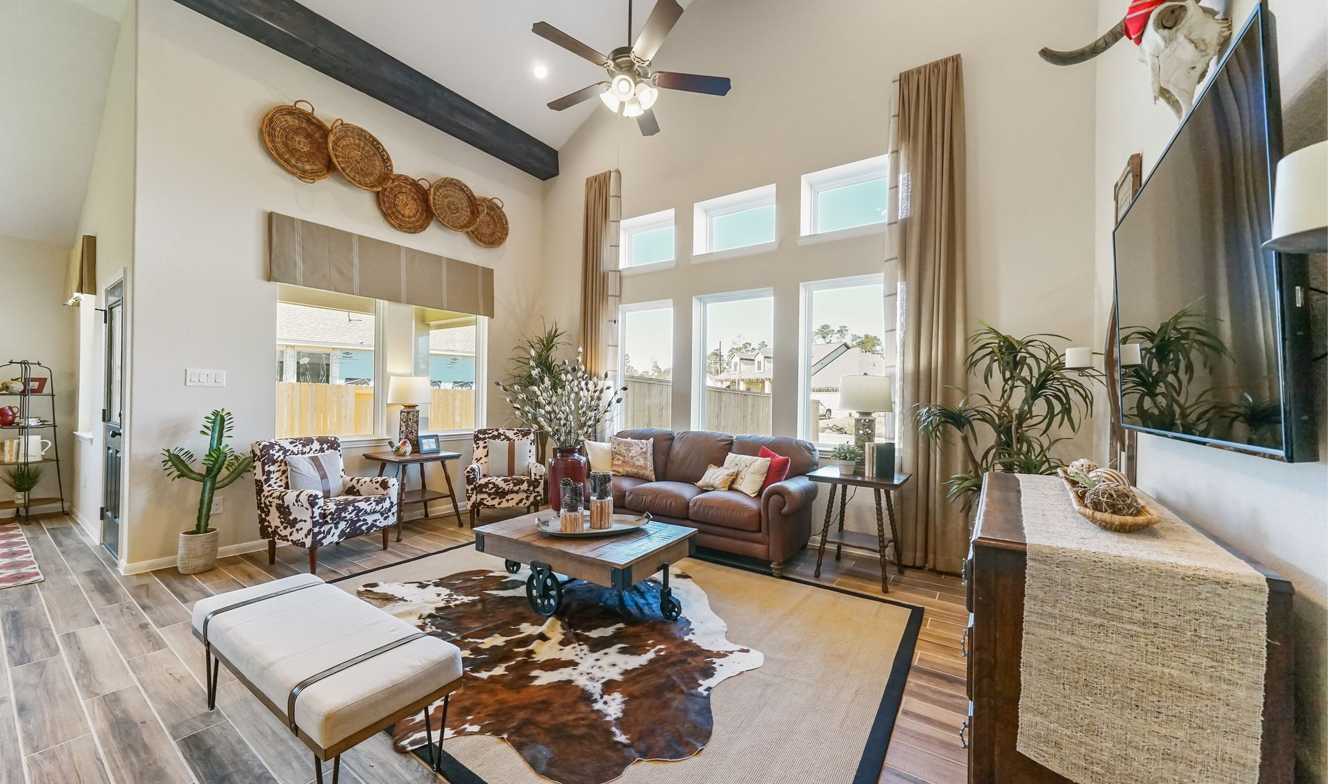 Interior:Expansive great room