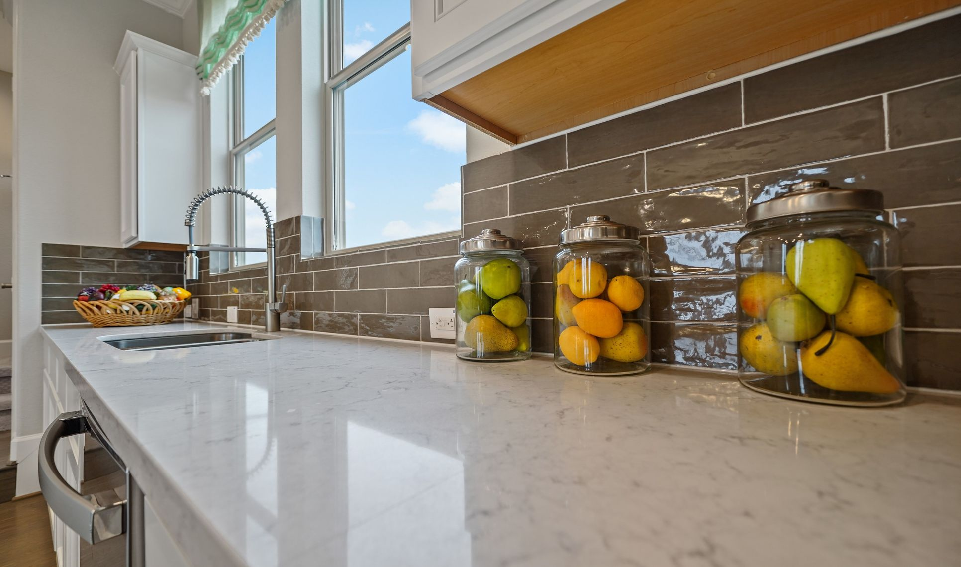 Interior:Ample counter space in kitchen