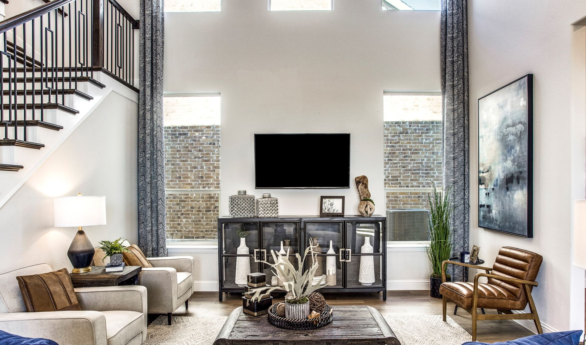 Interior:Ample natural light in great room
