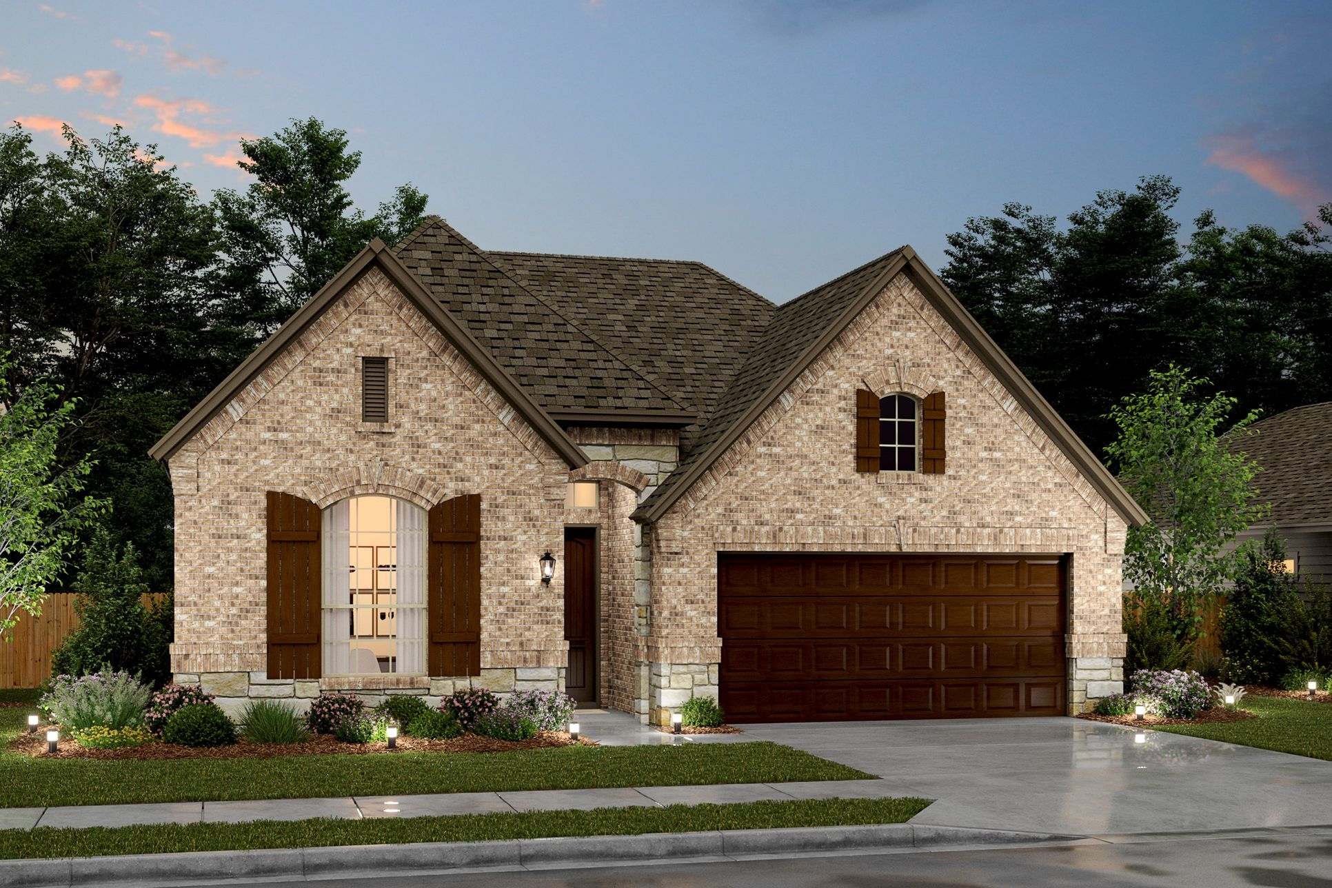 Exterior:Rockford VIII - D - Shown with Stone