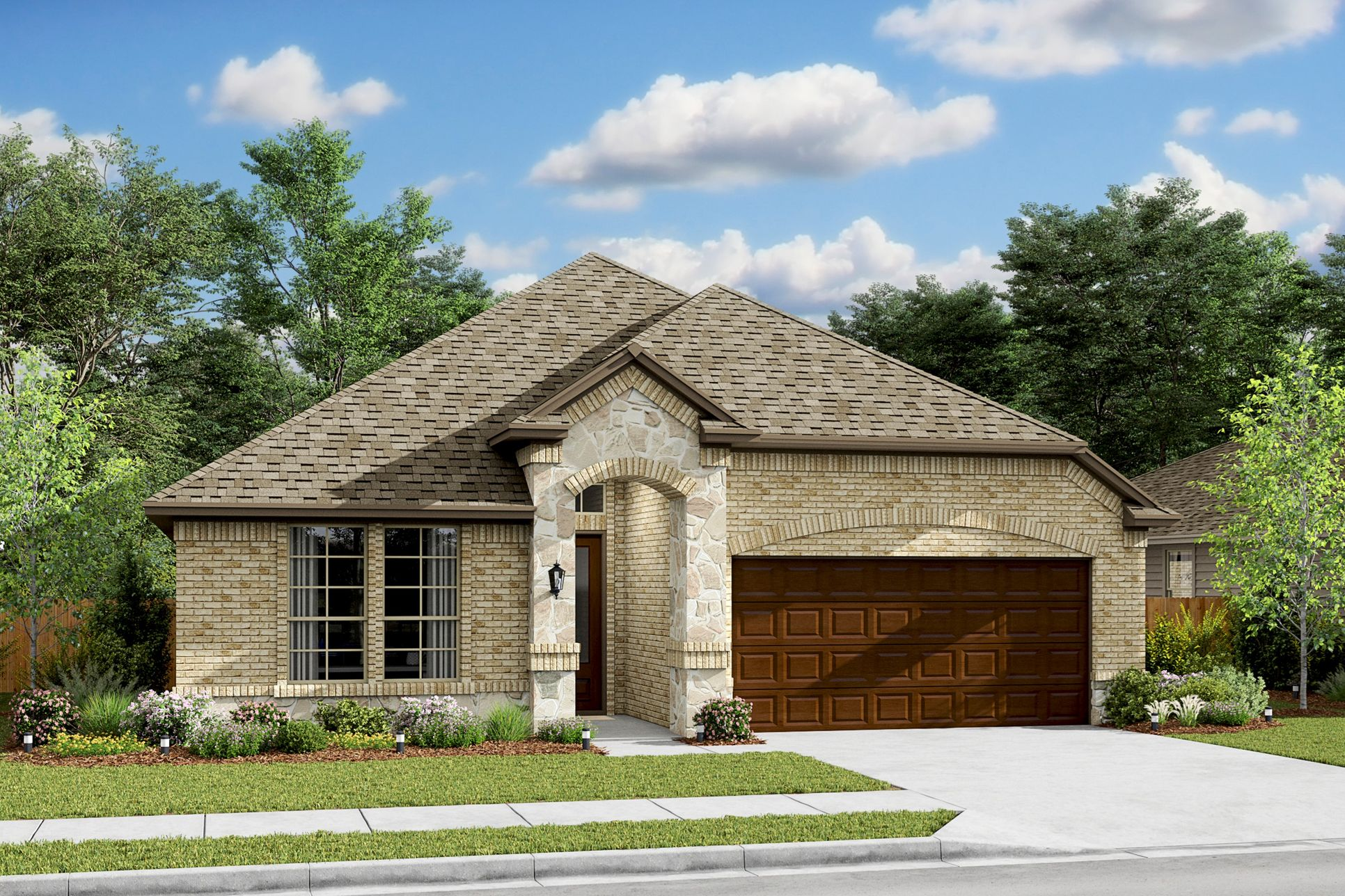 Exterior:Rockford VIII - B - Shown with Stone