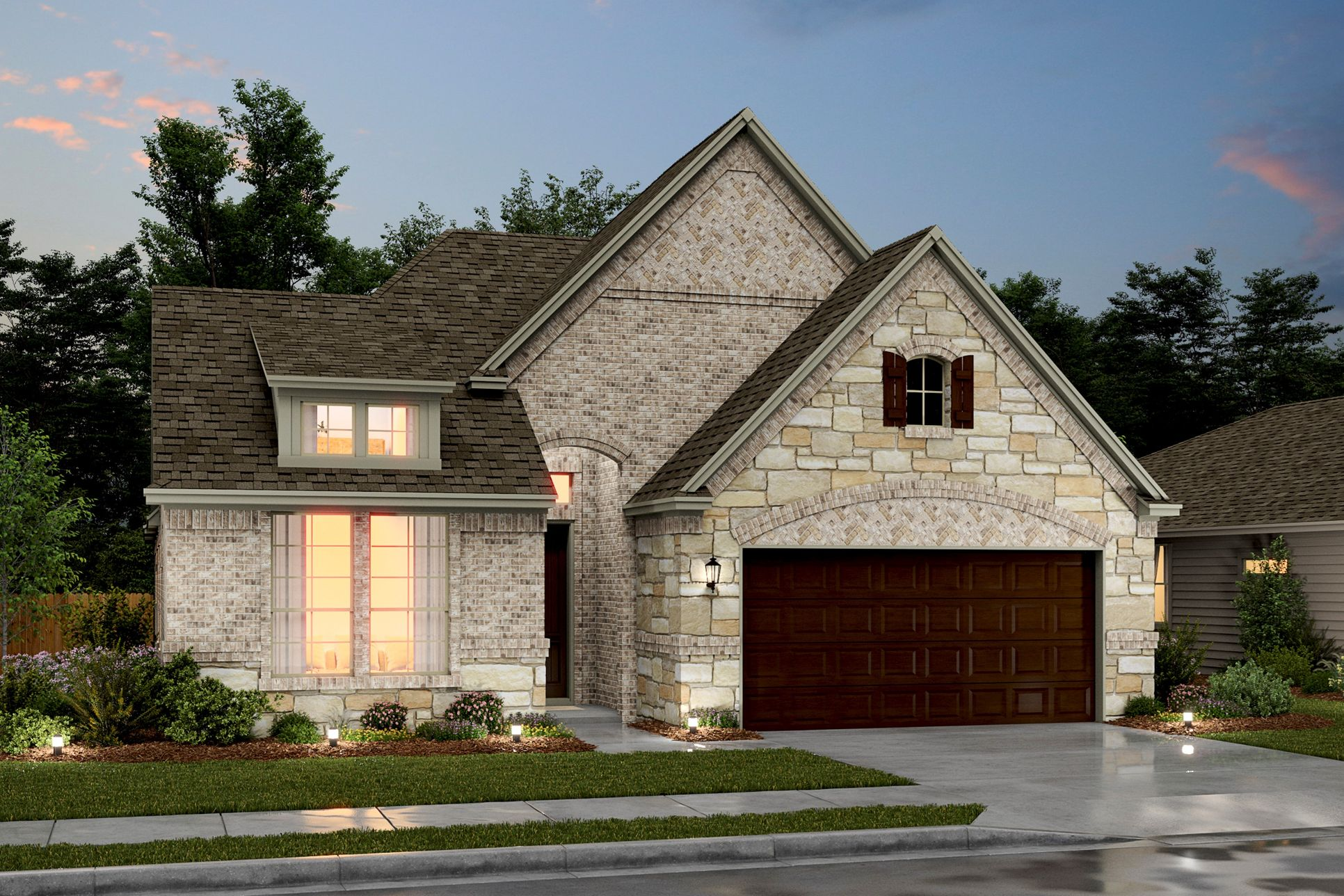 Exterior:Bronson VIII - D - Shown with stone