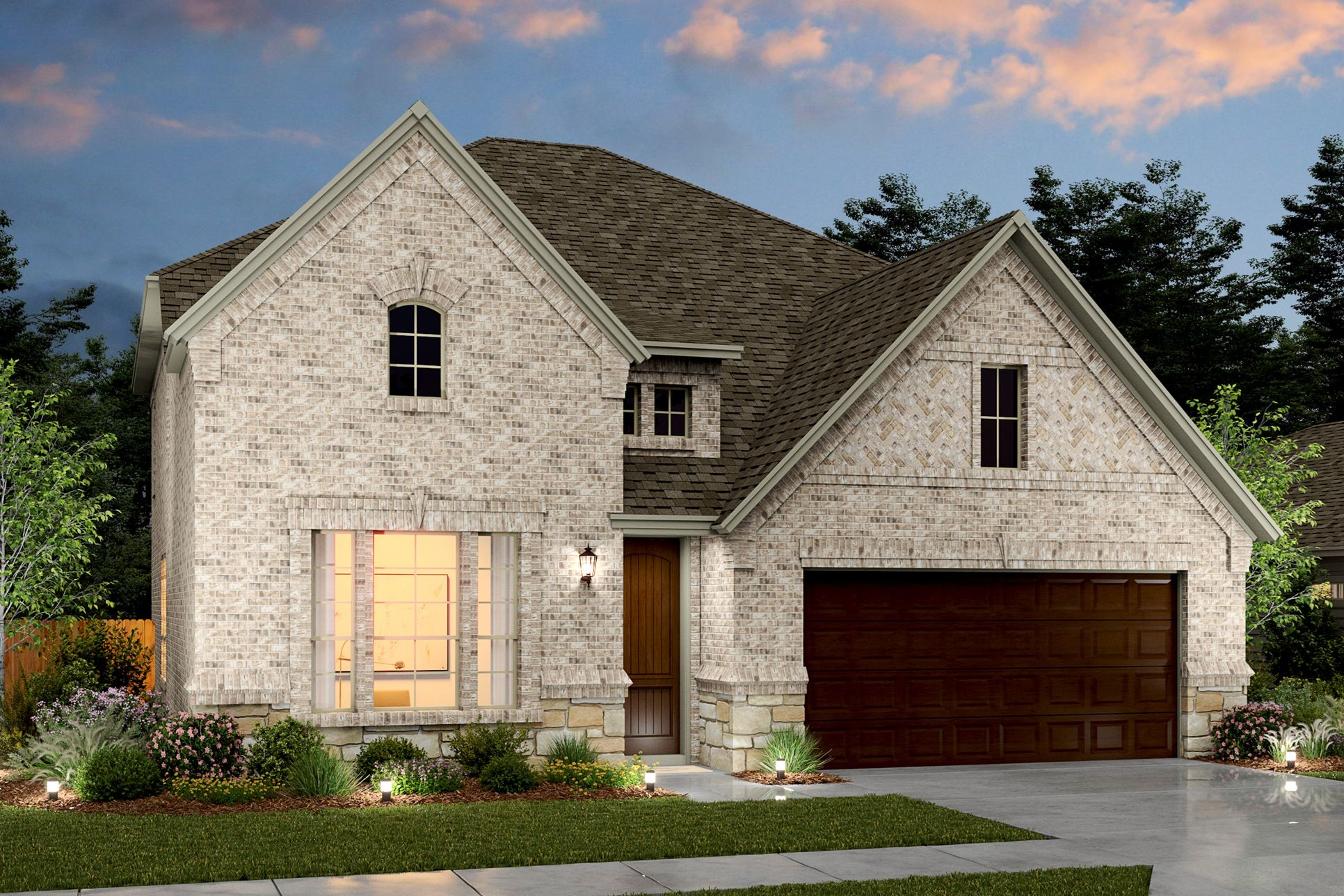 Exterior:Calloway VIII - D - Shown with stone