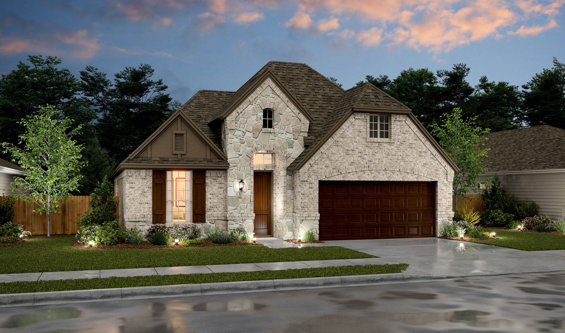 Exterior:Birkdale VIII - D - Shown with stone