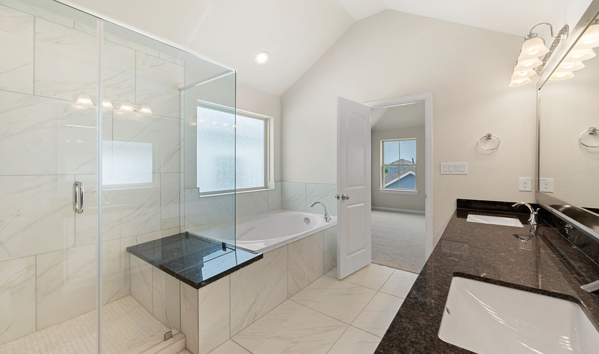 Interior:Spa tub and shower