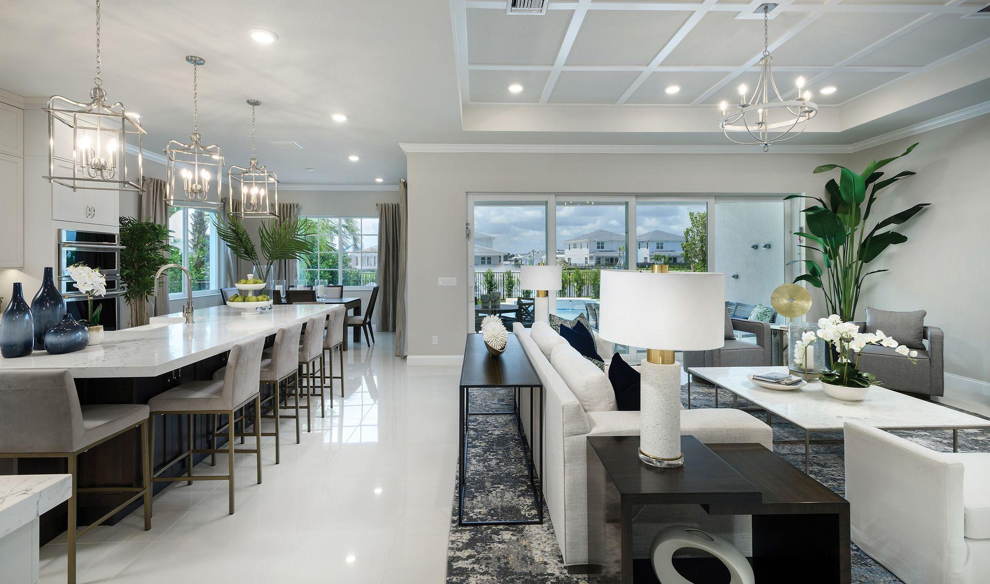 Interior:Open, airy floorplan