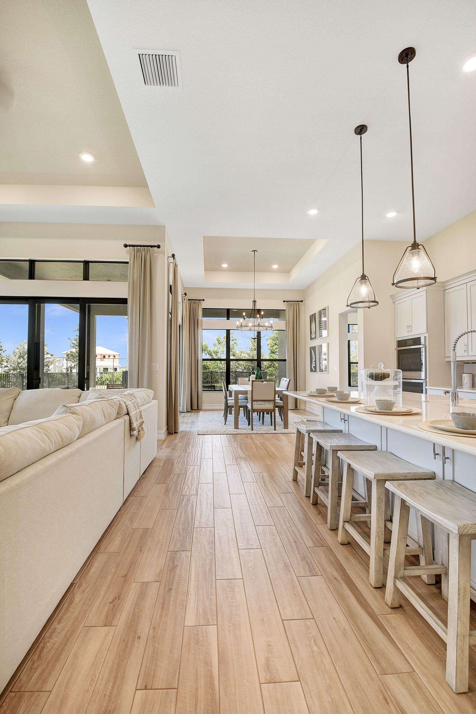 Interior:Kitchen adjacent to great room