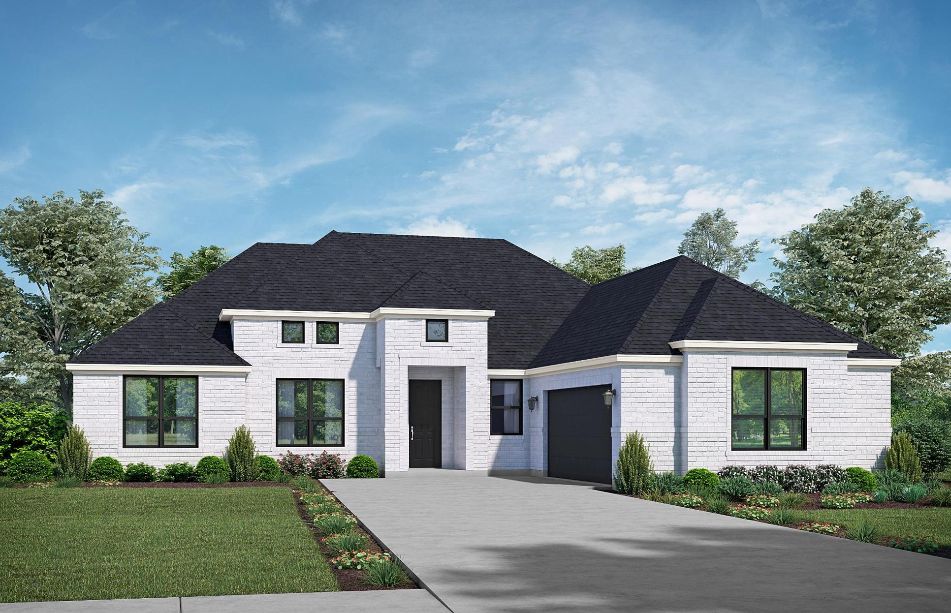 The Lodge - Elevation A. Images are artist renderings and will differ from the actual home built.:Elevation A
