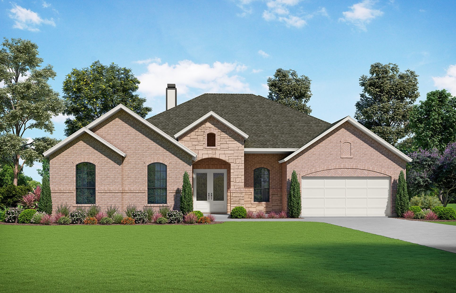 The Andross Elevation A. Images are artist renderings and will differ from the actual home built.:The Andross Elevation A