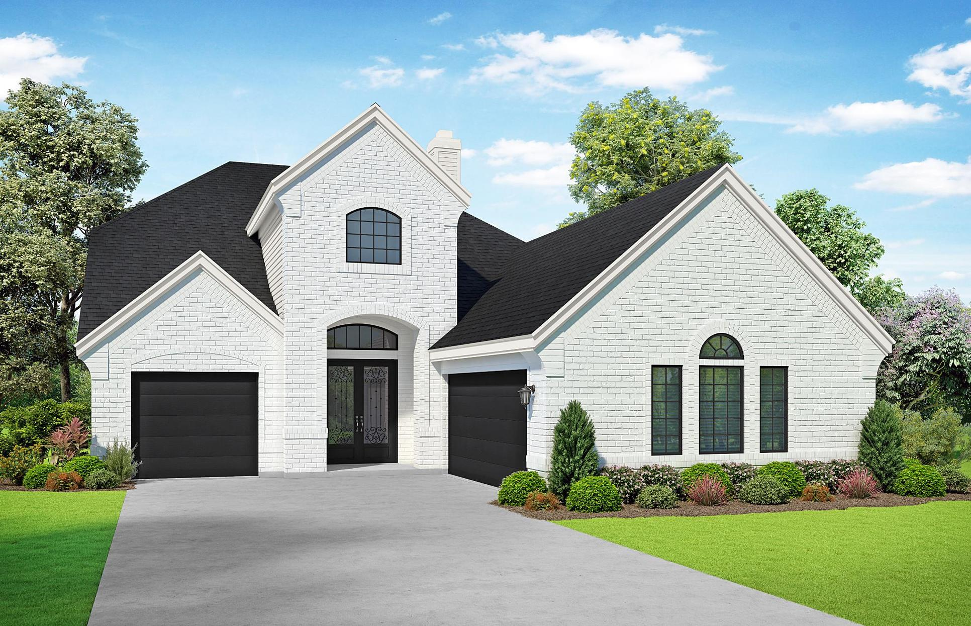 The Savannah Elevation A + 3rd Car Garage. Images are artist renderings and will differ from the ...:The Savannah Elevation A + 3rd Car Garage