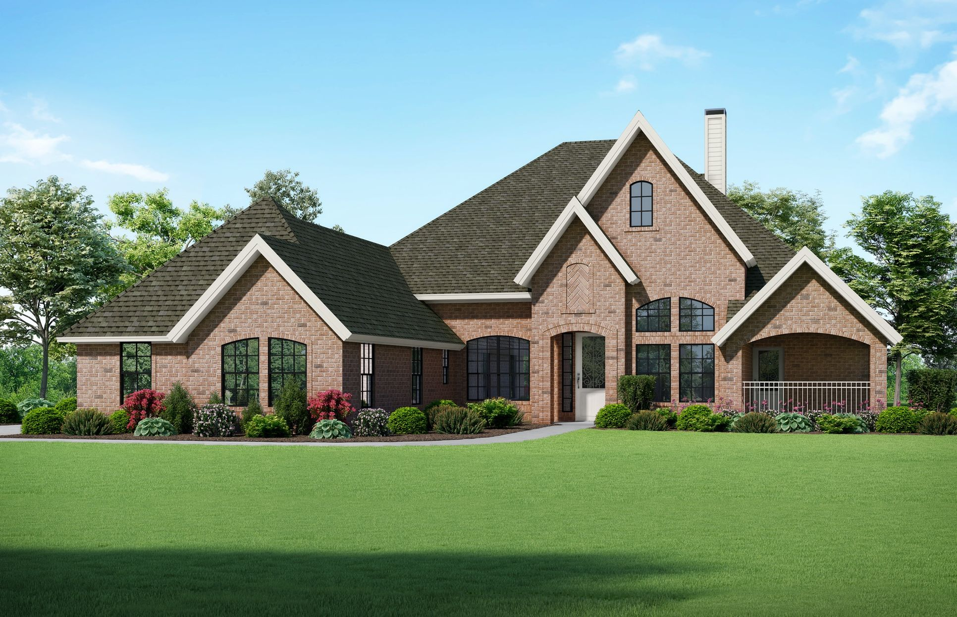 Jayden II Elevation F. Images are artist renderings and will differ from the actual home built.:Jayden II Elevation F