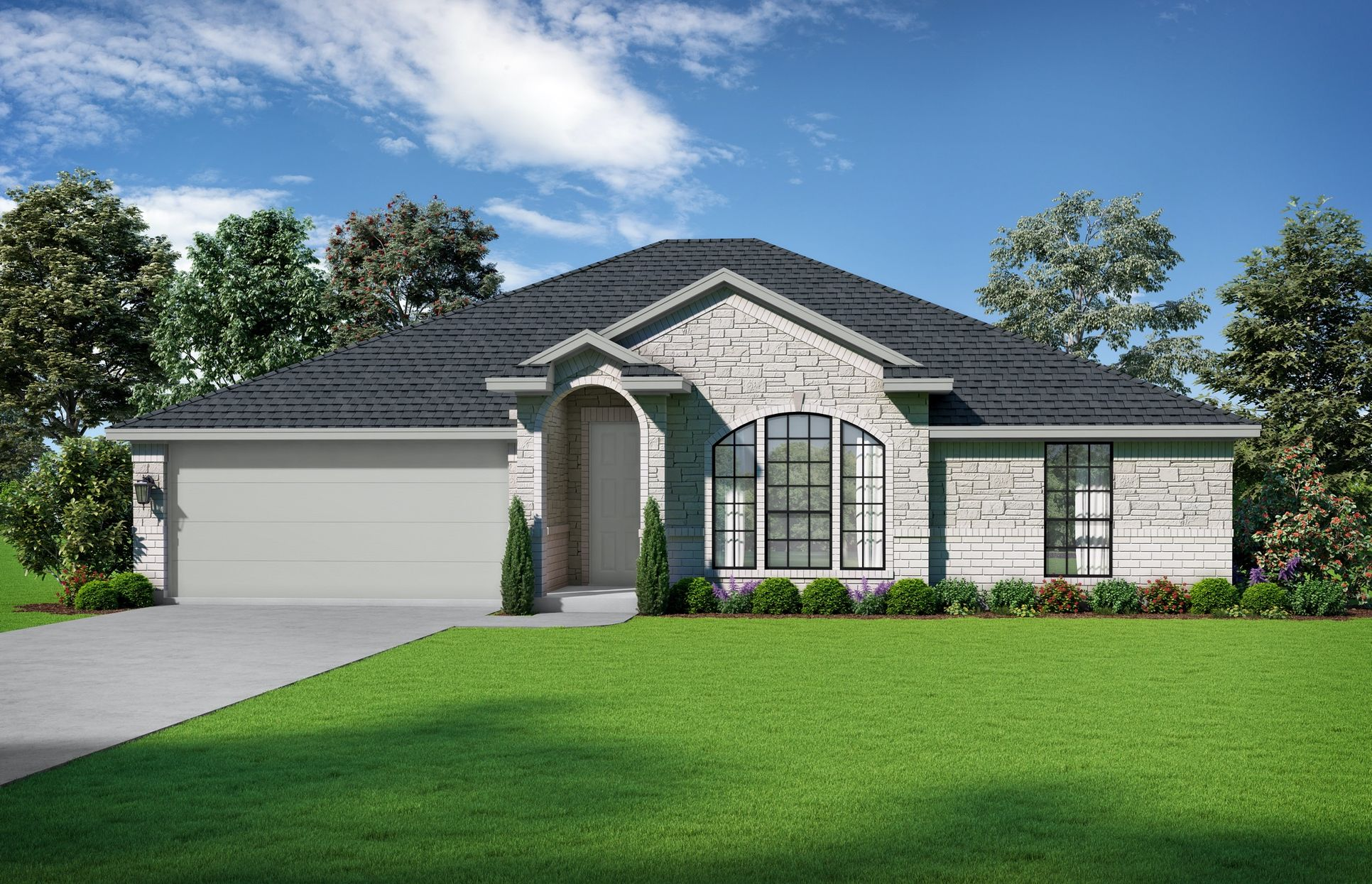 The Soren Exterior Elevation S2. Images are artist renderings and will differ from the actual hom...:Elevation S2