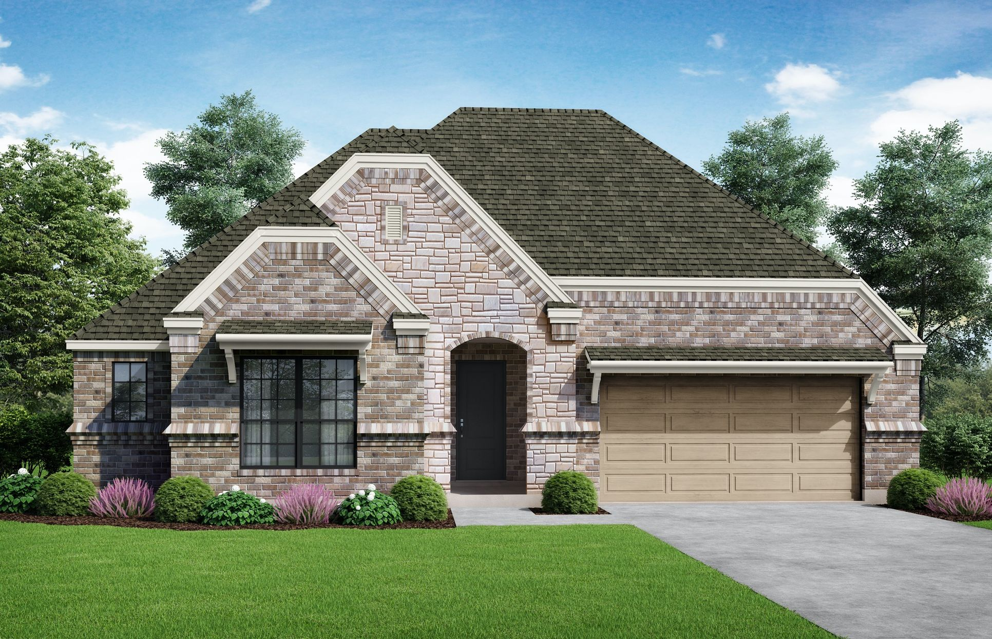 Granada Elevation A. Images are artist renderings and will differ from the actual home built.:Granada Elevation A