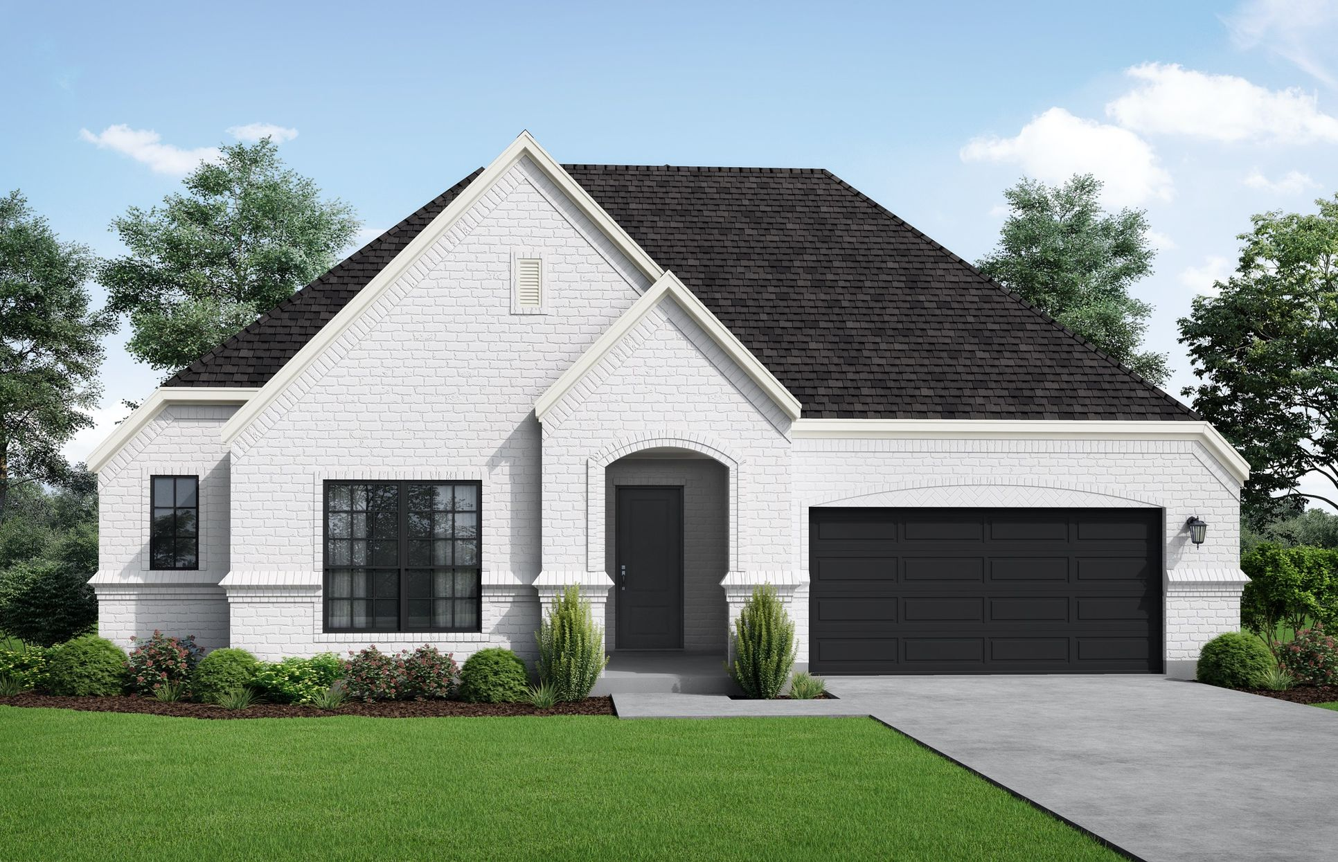 Granada Elevation C. Images are artist renderings and will differ from the actual home built.:Granada Elevation C