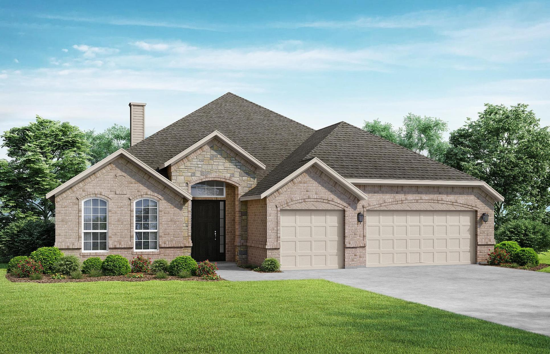 Garner - Elevation A. Images are artist renderings and will differ from the actual home built.:The Garner