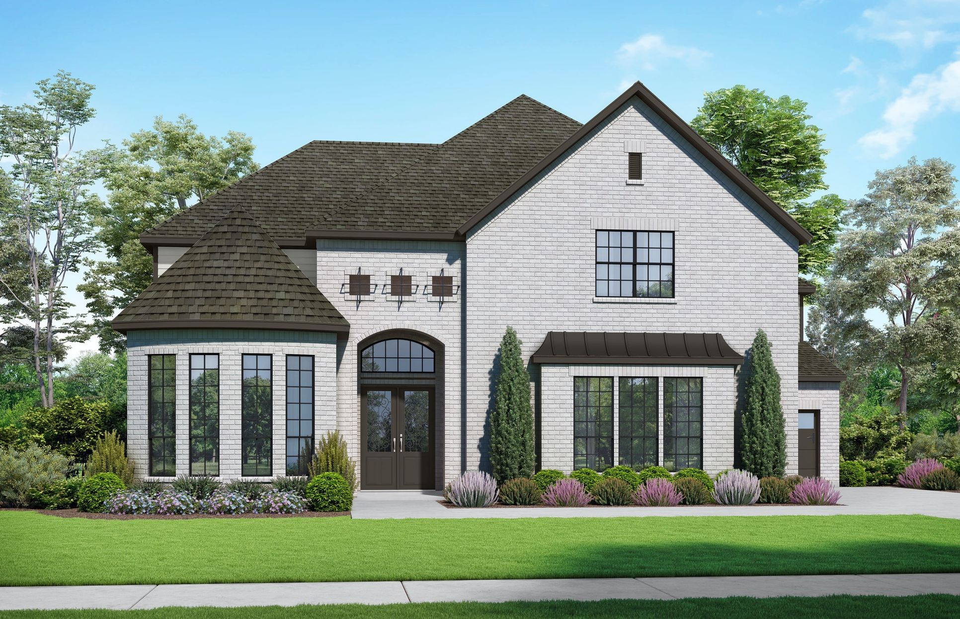 The Crockett Elevation A. Images are artist renderings and will differ from the actual home built.:Elevation A