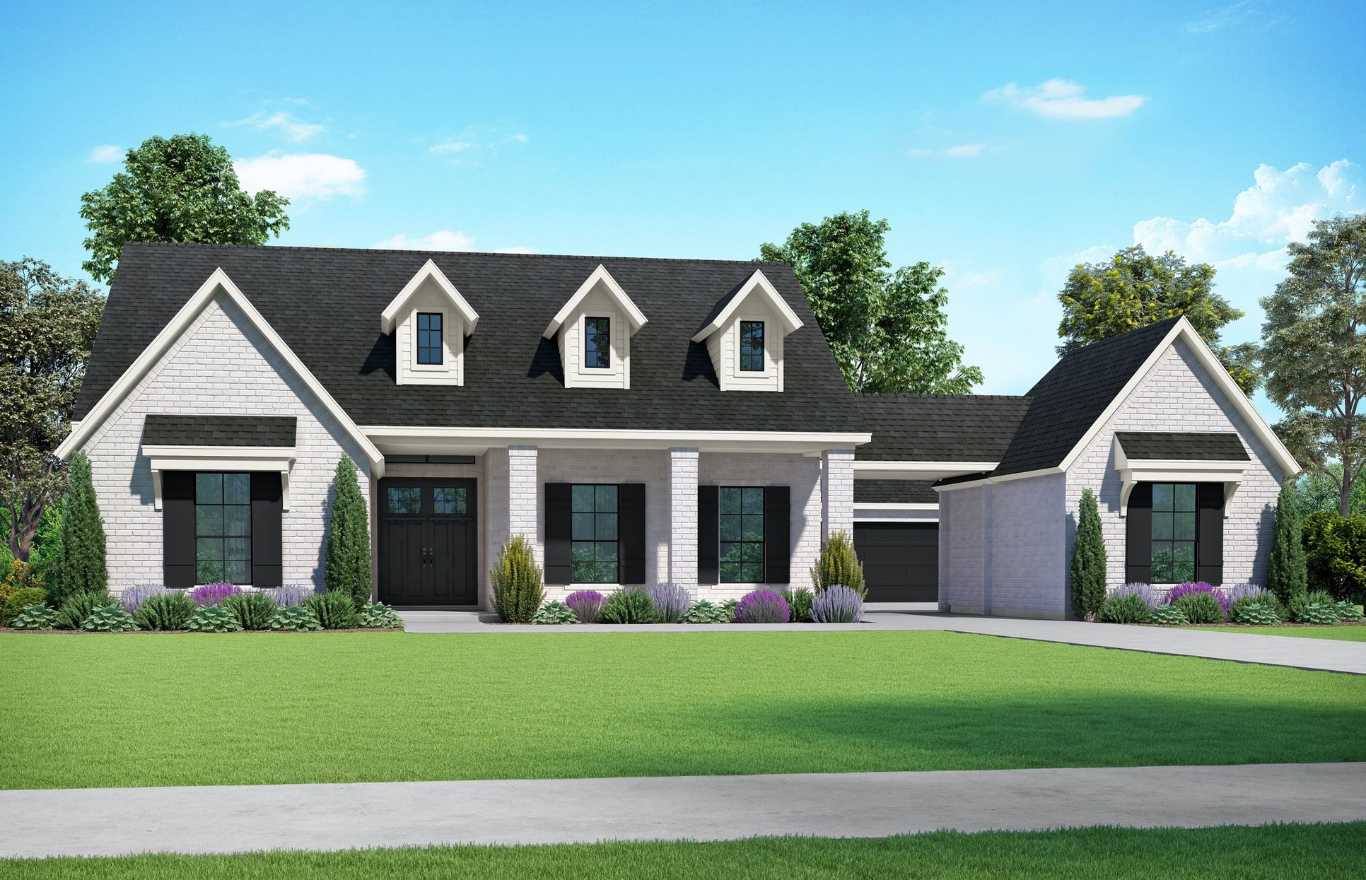 Travis Elevation F. Images are artist renderings and will differ from the actual home built.:Travis Elevation F