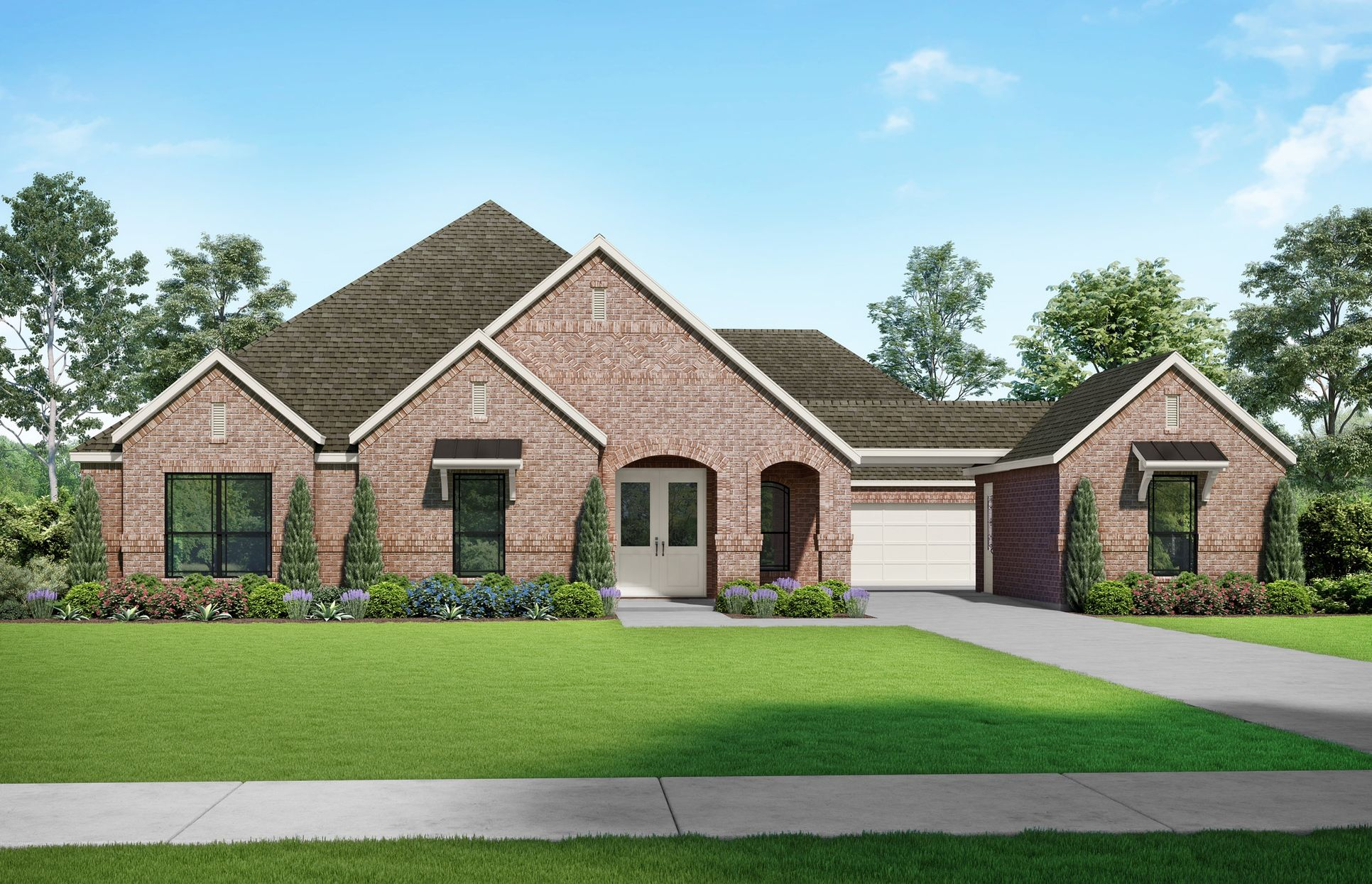 Courtman Elevation A. Images are artist renderings and will differ from the actual home built.:Courtman Elevation A