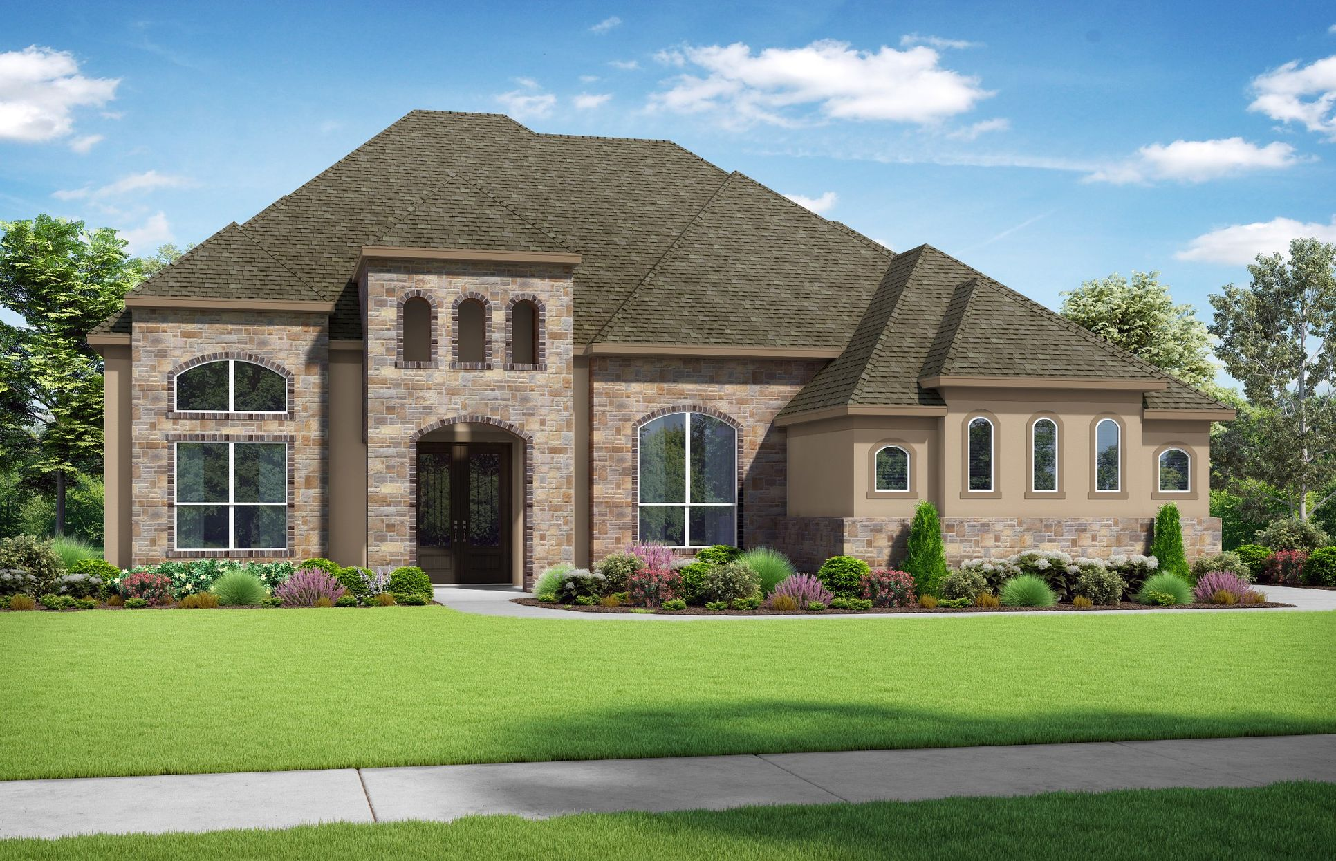Images are artist renderings and will differ from the actual home built.:Elevation T