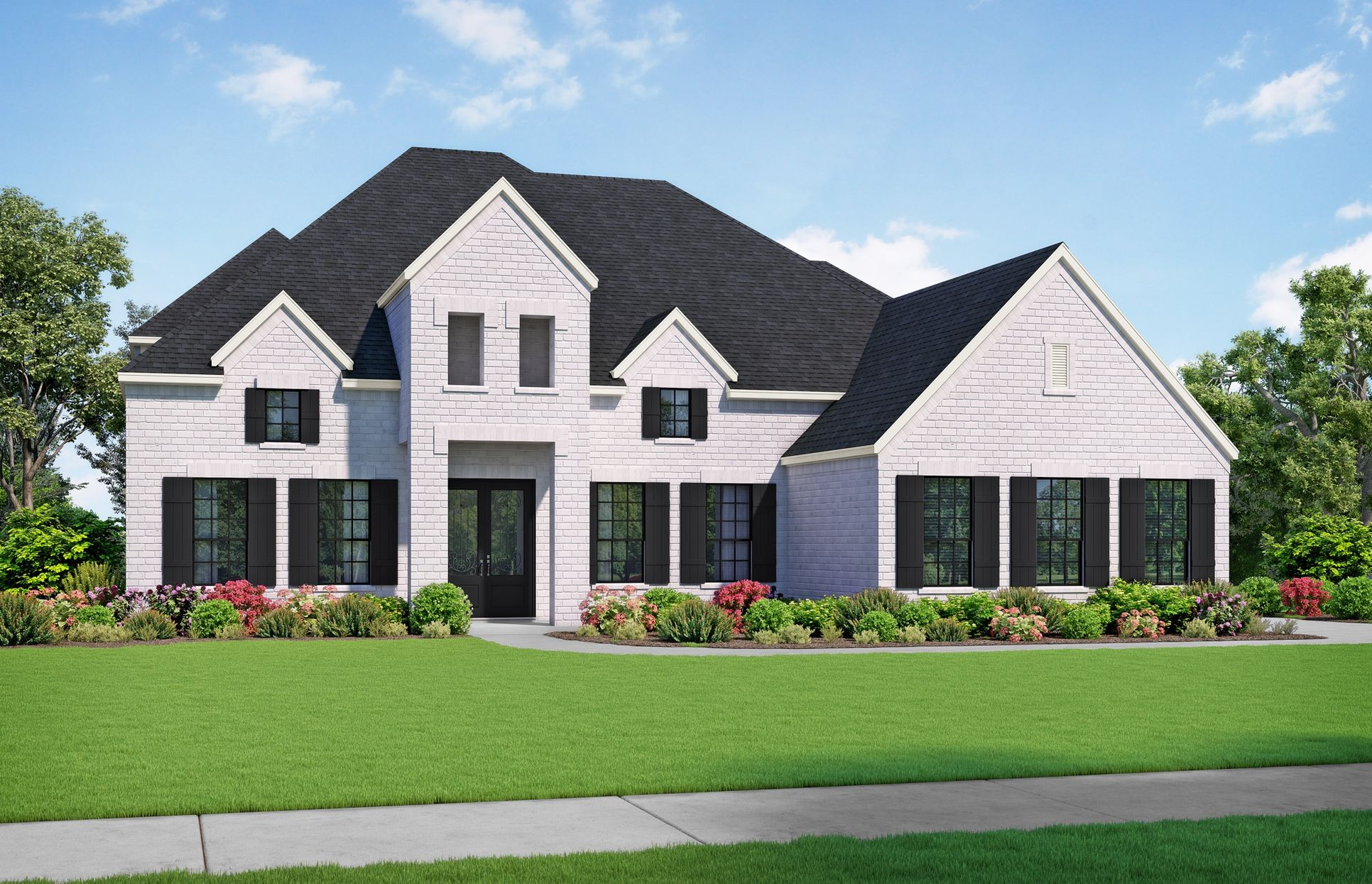 Bayliss Elevation A. Images are artist renderings and will differ from the actual home built.:Bayliss Elevation A