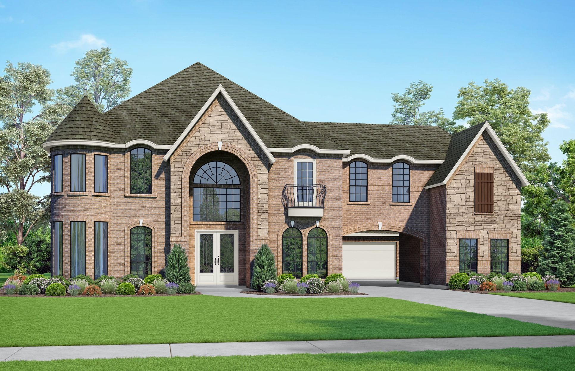 Mico II Elevation S1. Images are artist renderings and will differ from the actual home built.:Mico II Elevation S1