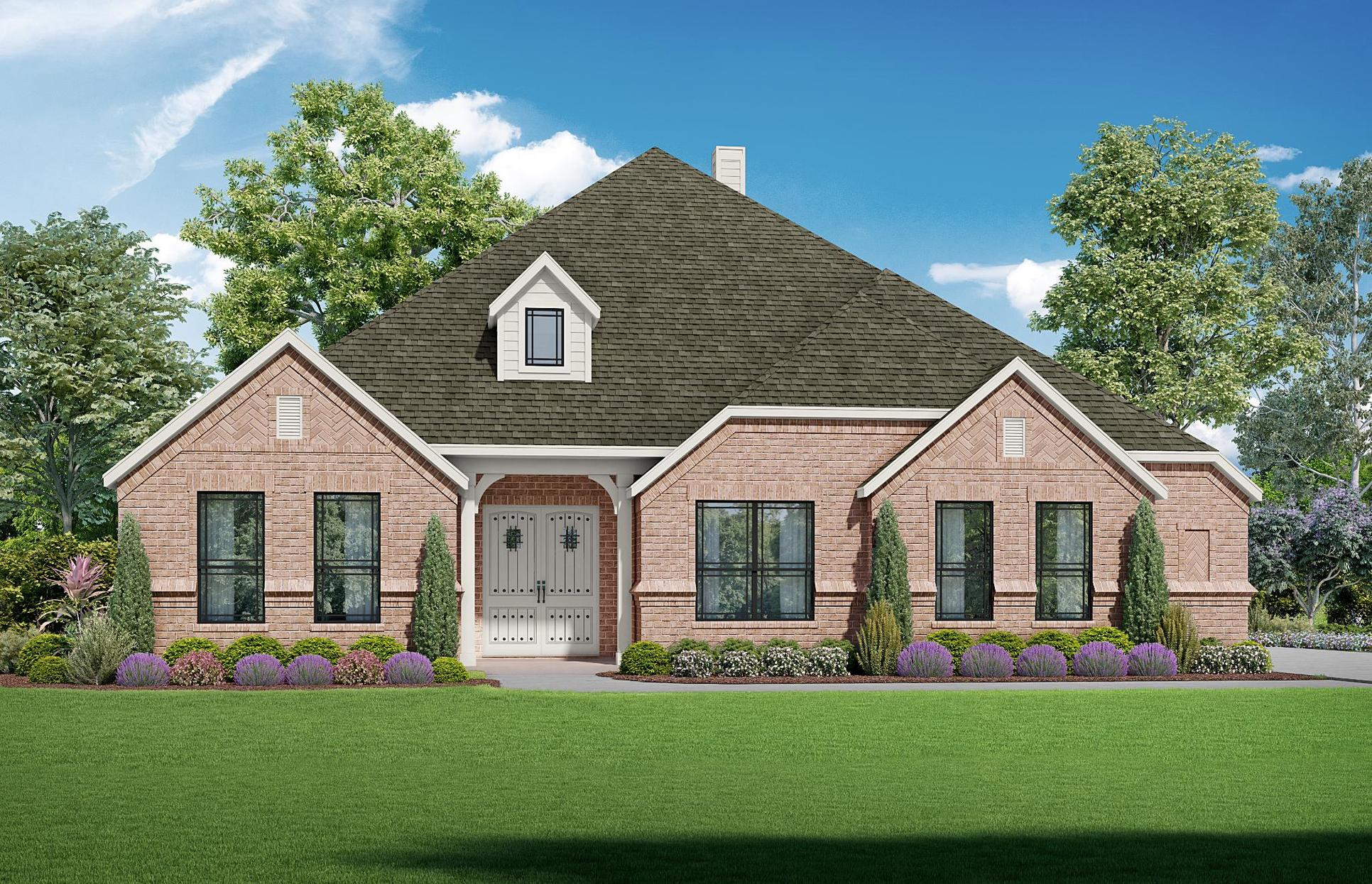 Summerlin - Elevation A. Images are artist renderings and will differ from the actual home built.:Elevation A