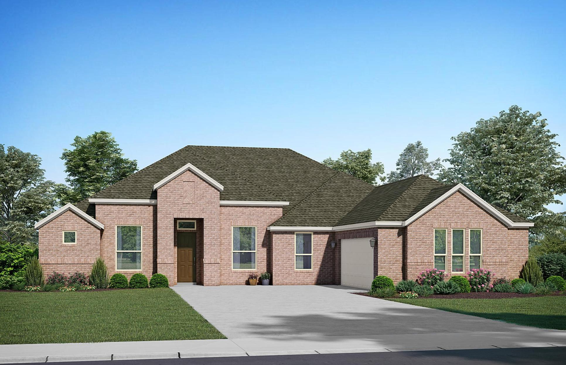 The Chateau - Elevation A. Images are artist renderings and will differ from the actual home built.:Elevation A