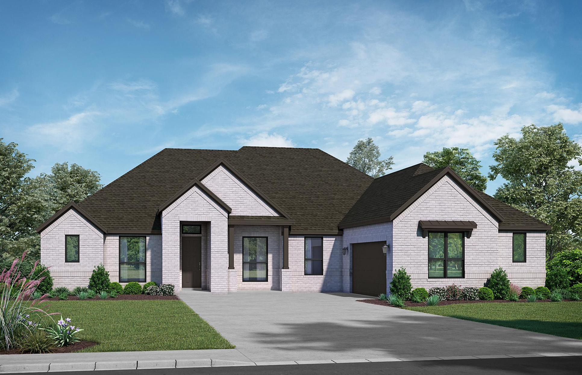 The Chateau - Elevation D. Images are artist renderings and will differ from the actual home built.:Elevation D