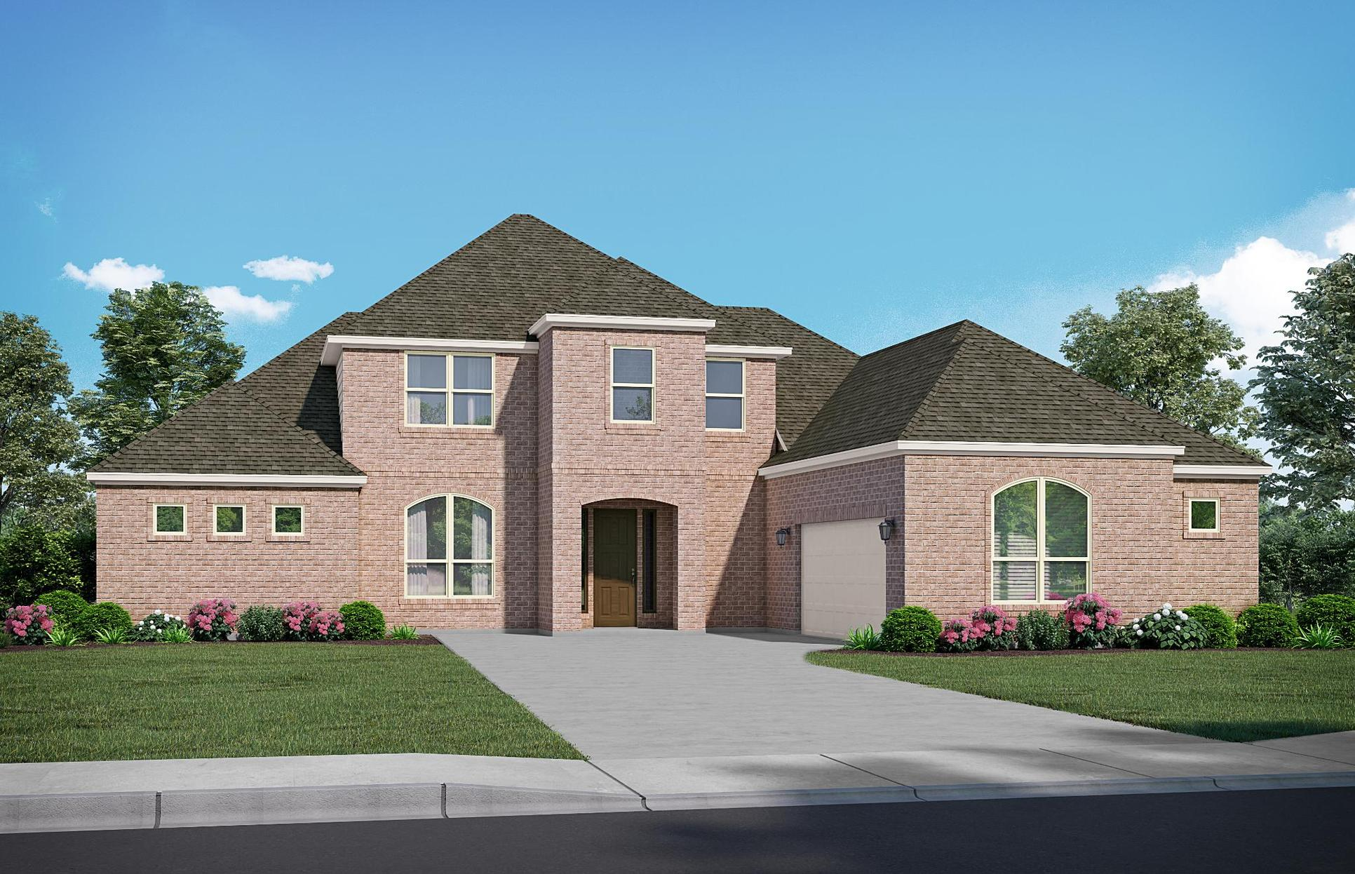 The Chalet - Elevation C. Images are artist renderings and will differ from the actual home built.:Elevation C